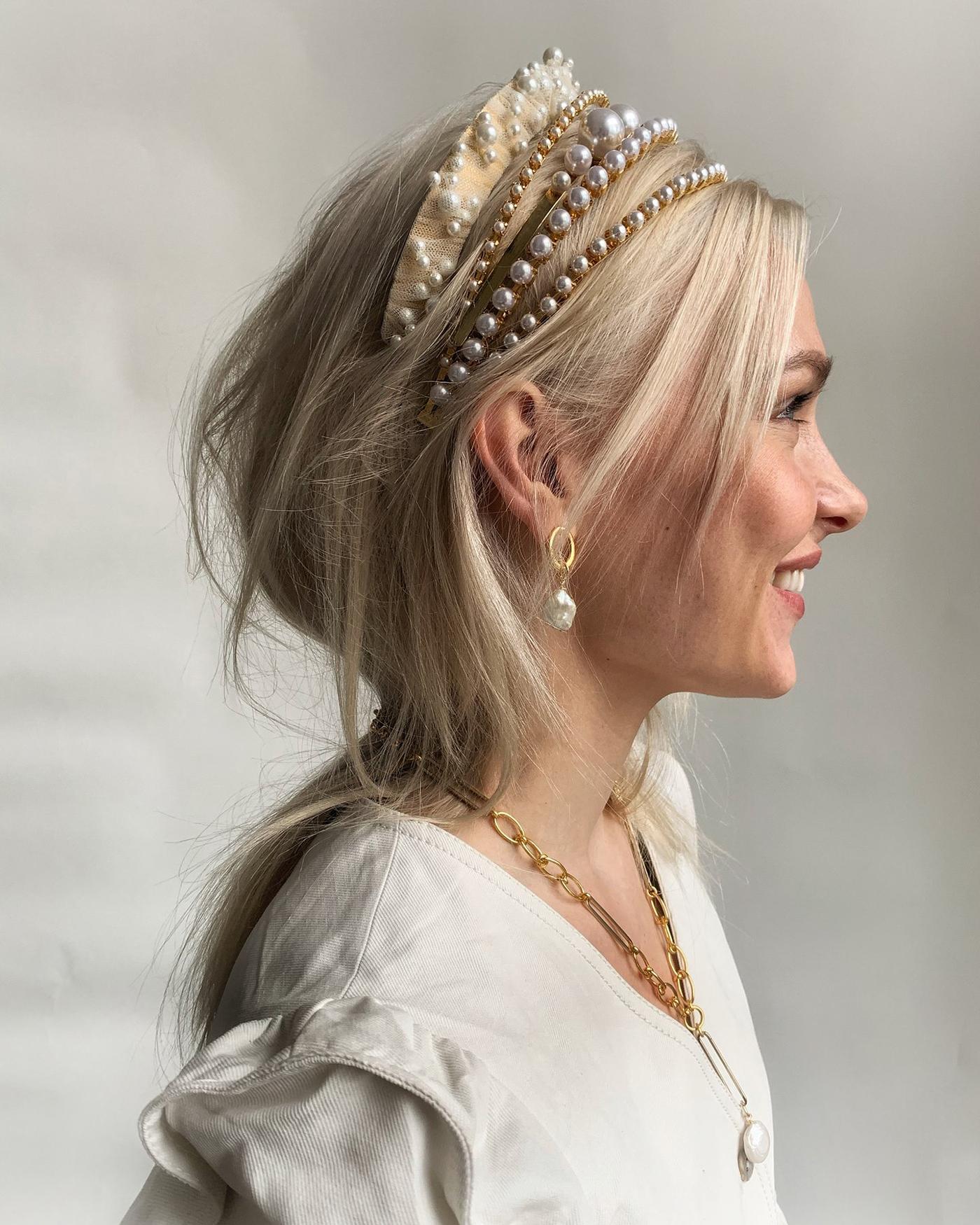 Bridgerton-Inspired Pearl Headbands