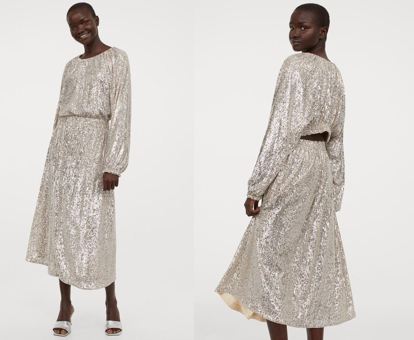 sequin wedding dress under 100