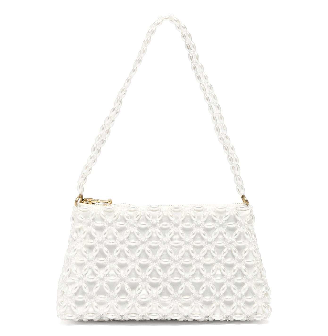 Bridgerton-Inspired Pearl Beaded Handbag