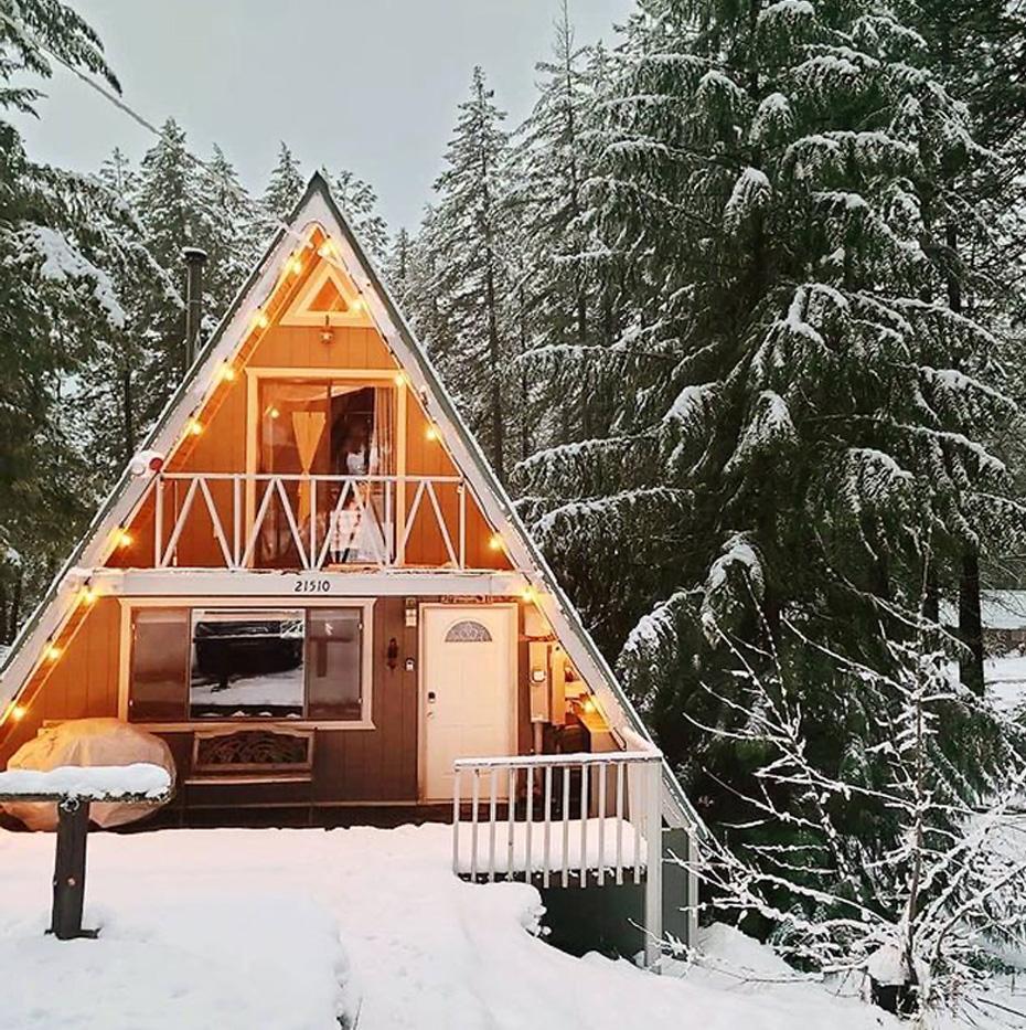 winter cabin in washington rental