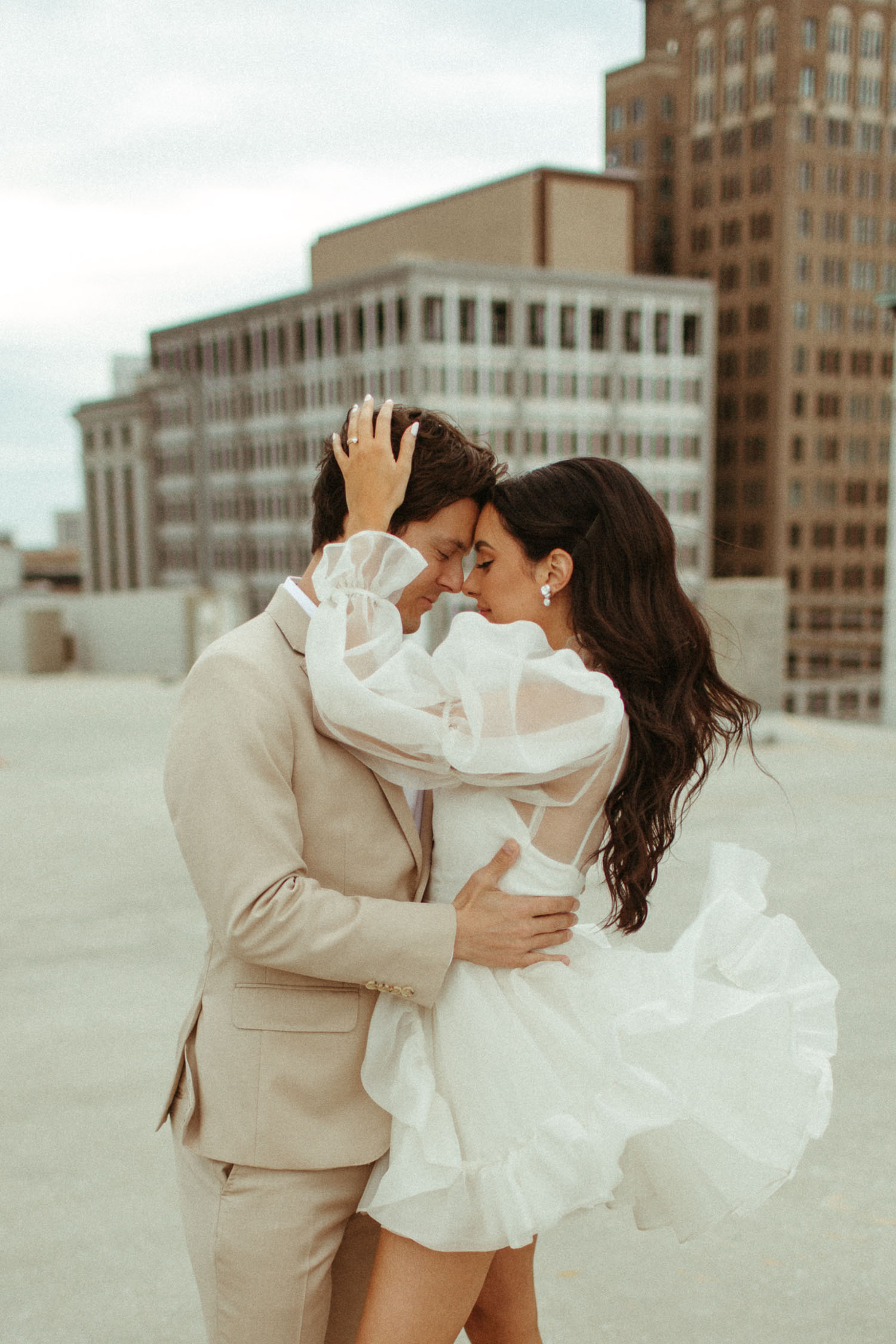 Downtown Rooftop City Elopement