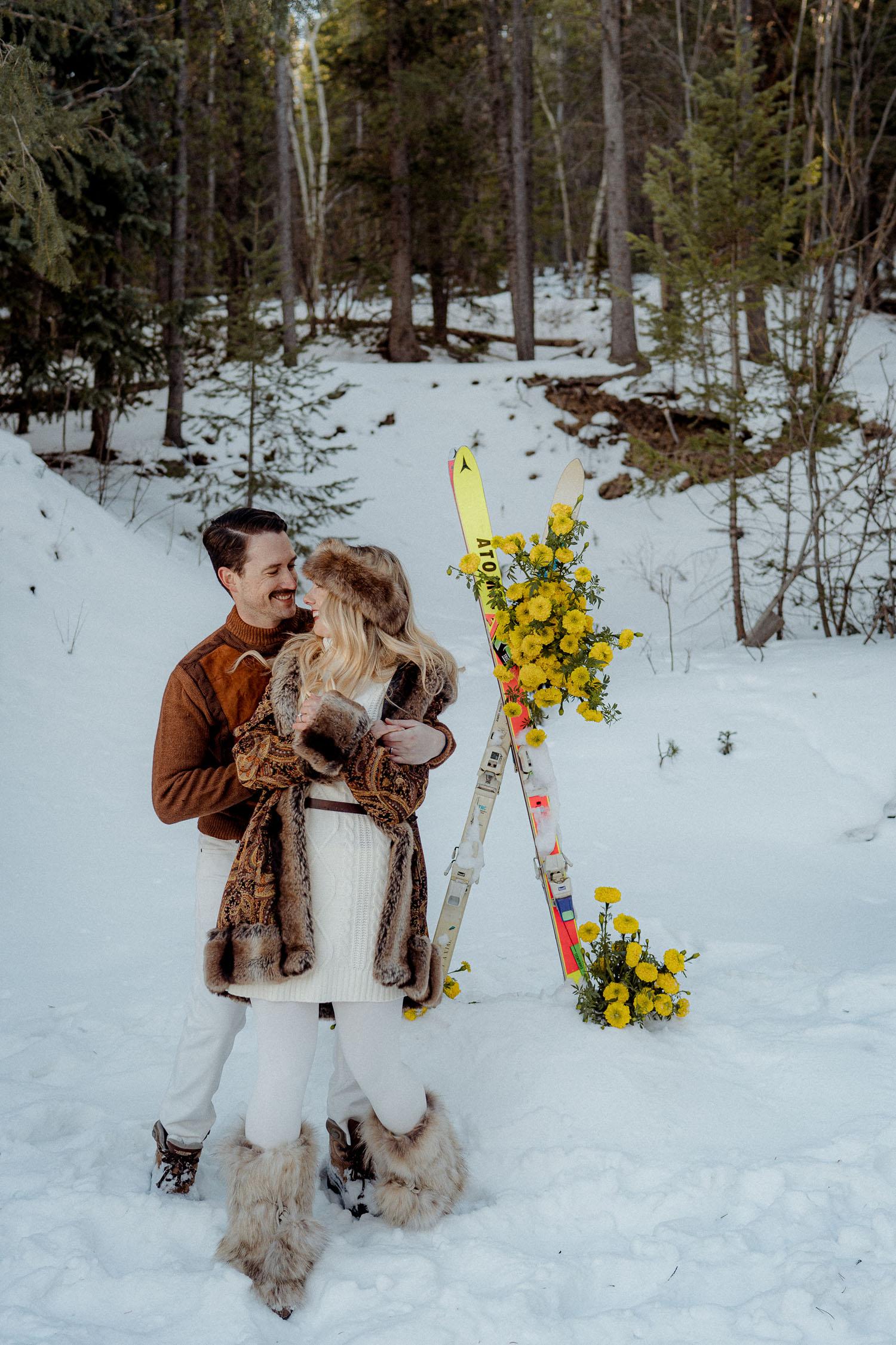 Snowy Colorado Wedding Inspiration