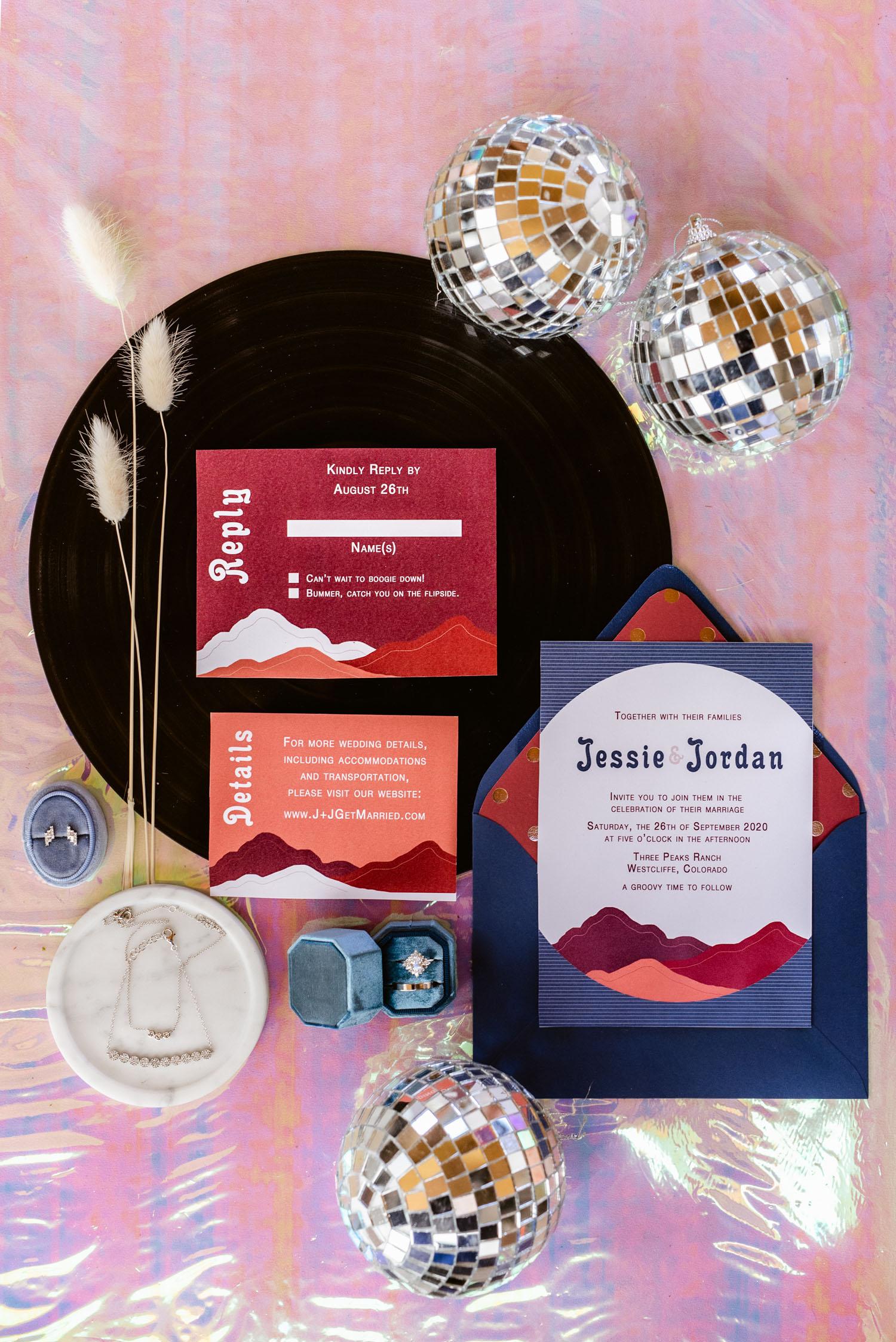 mountain inspired invitation