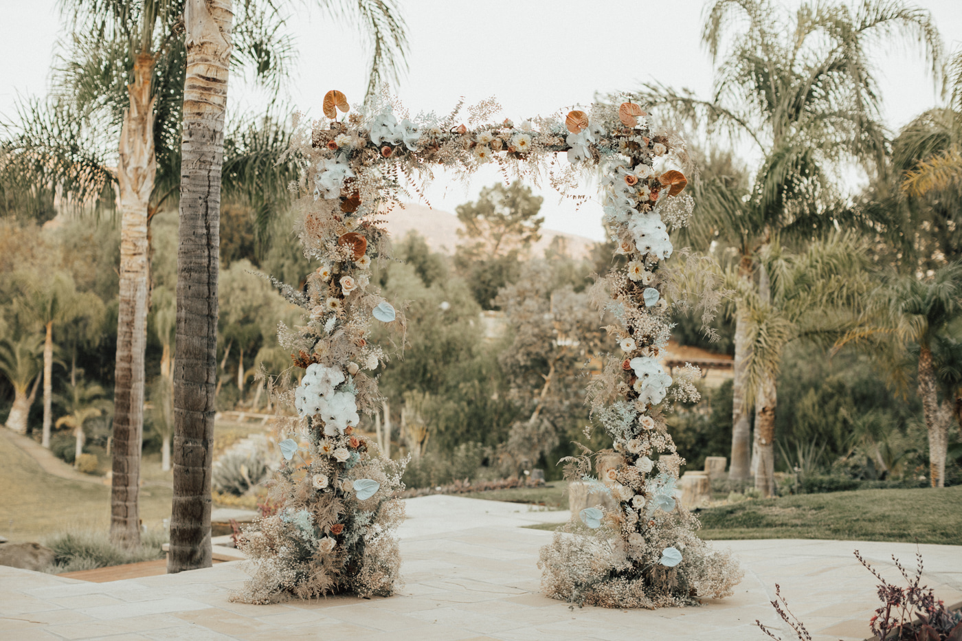 babys breath floral arch