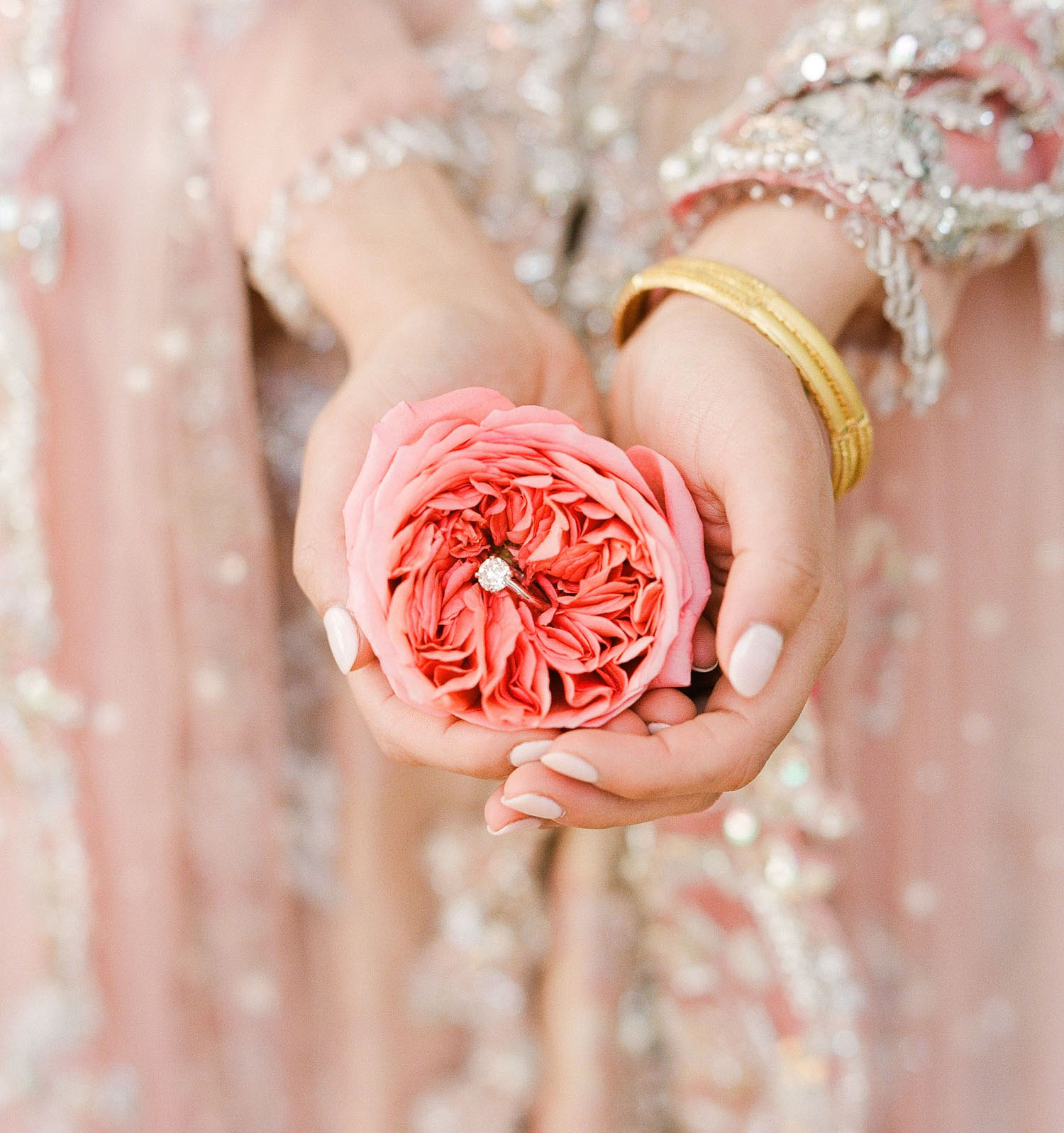 engagement ring garden rose