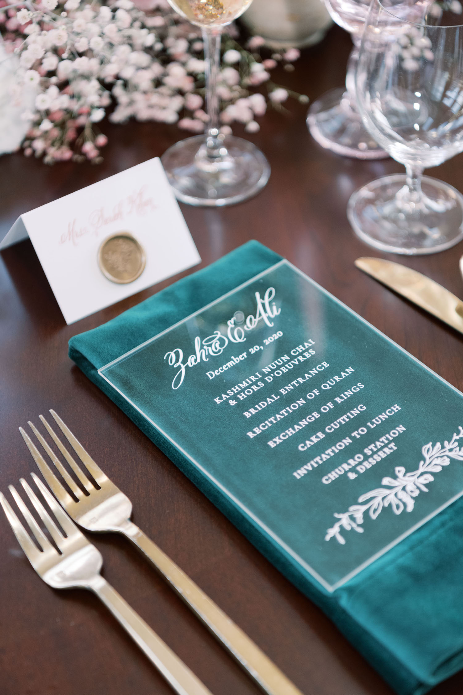 acrylic menu