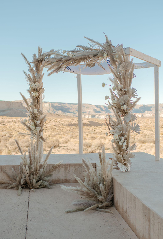 pampas grass ceremony decor