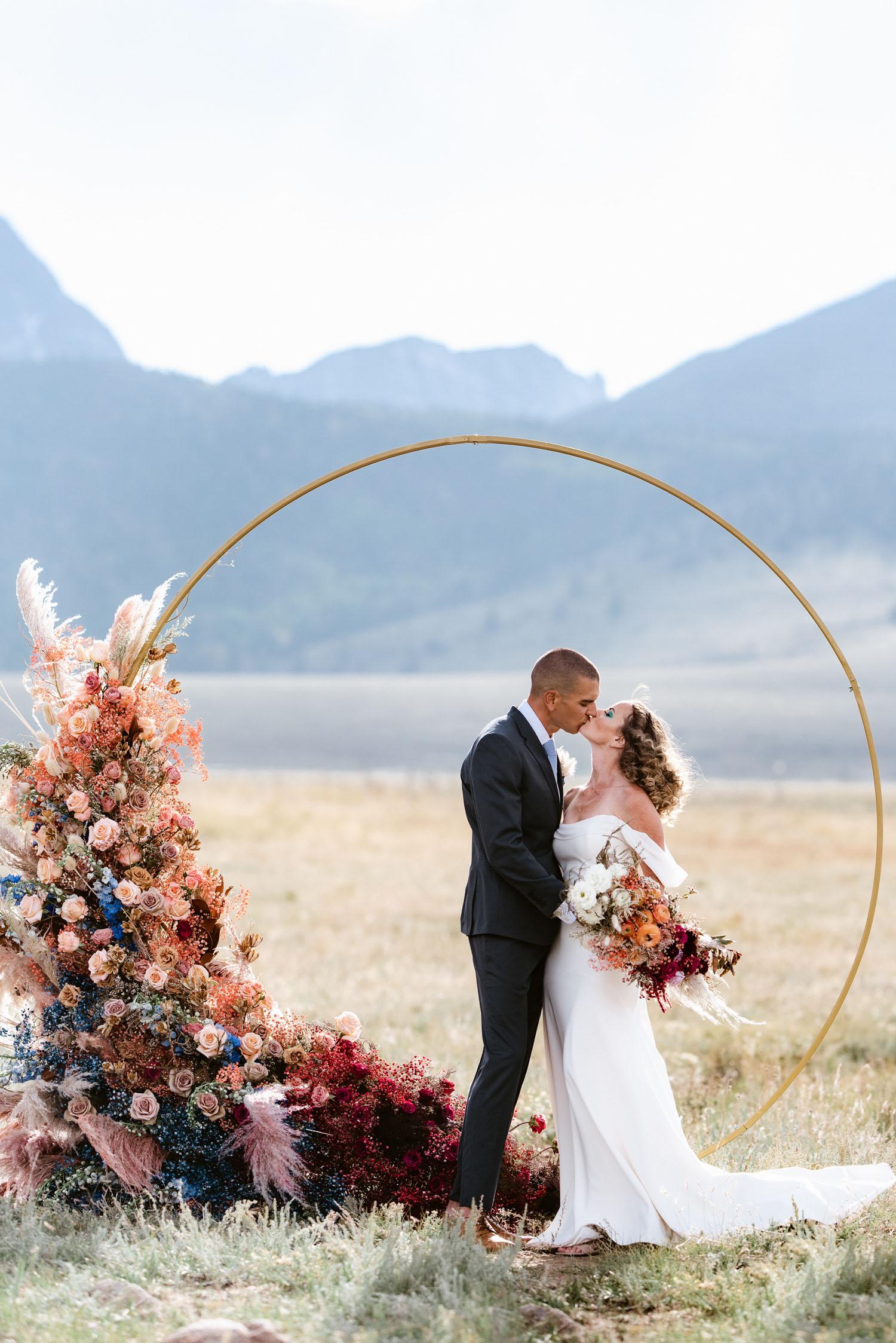 circle flower arch ceremony decor