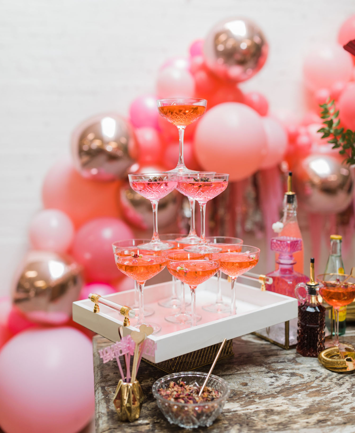 pink Valentine's Day Cocktails