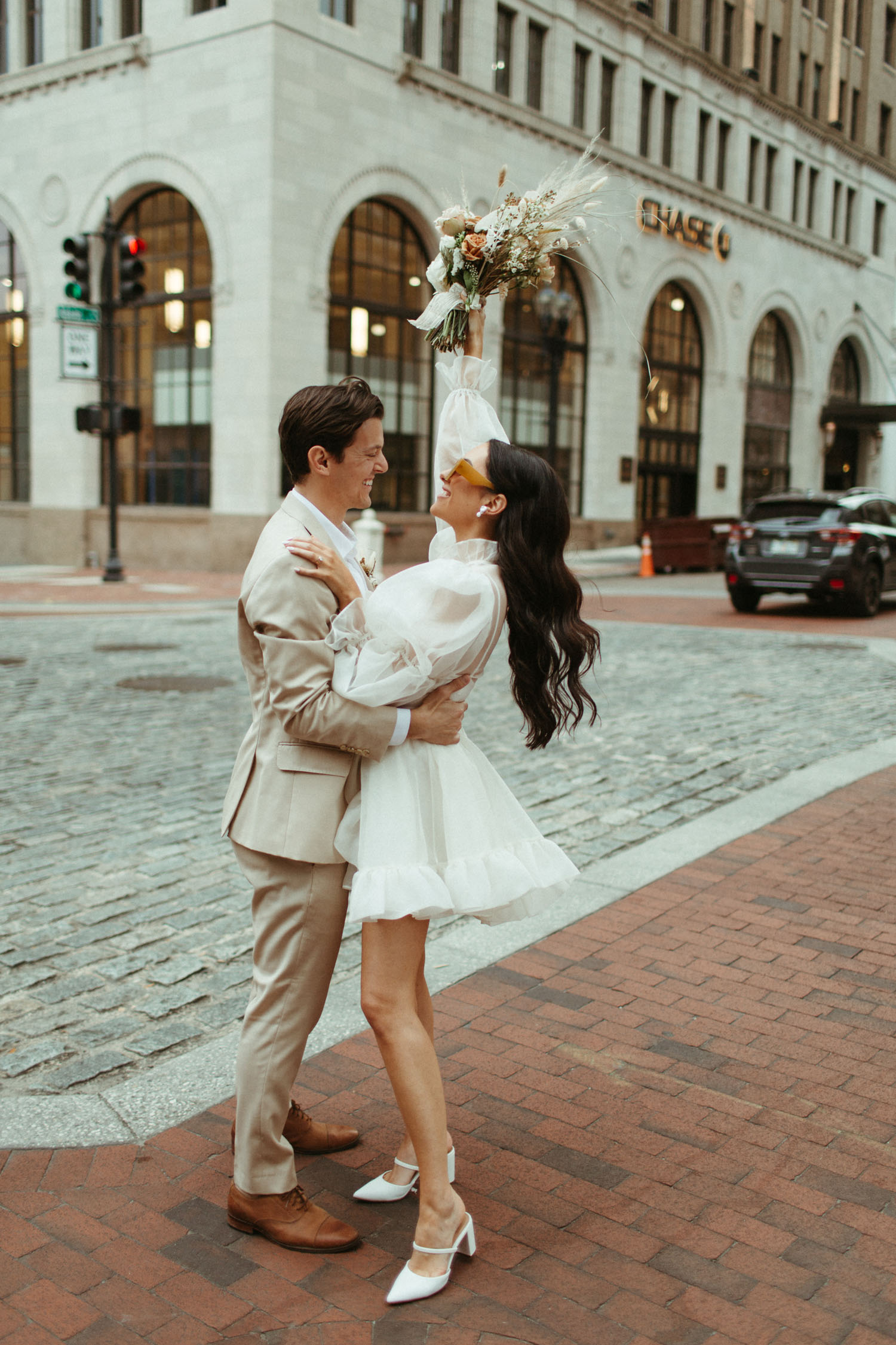 Downtown Rooftop Elopement