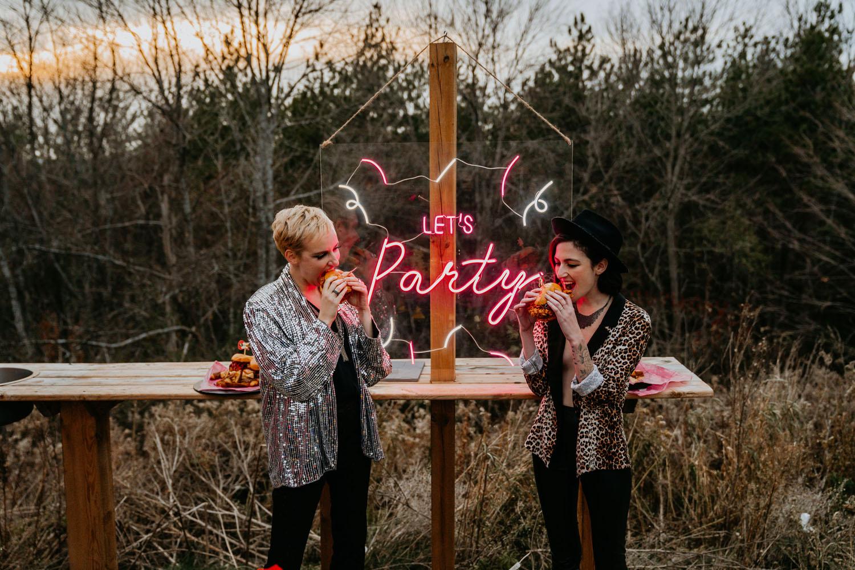 neonske natpise za vjenčanje