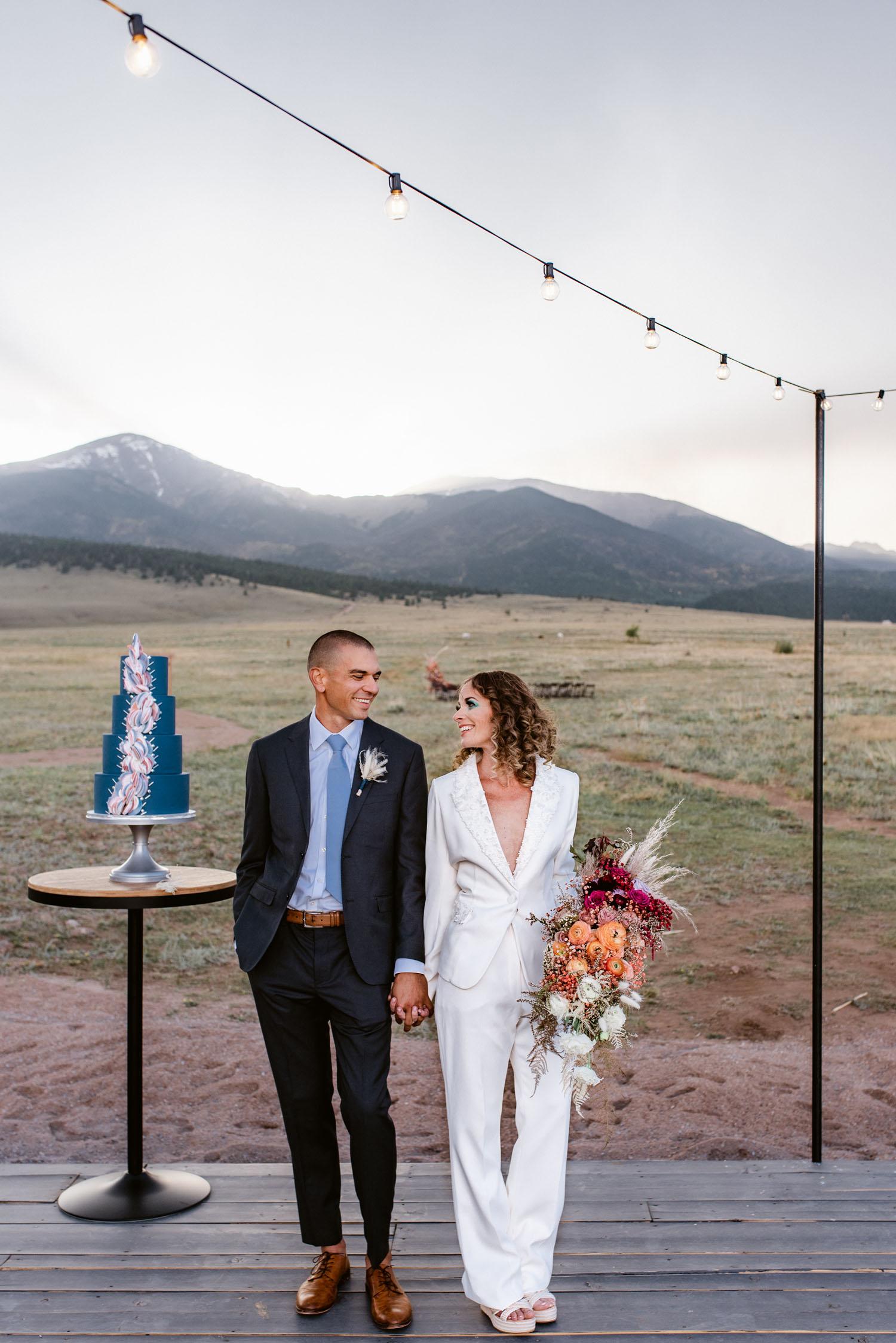 white suit wedding attire