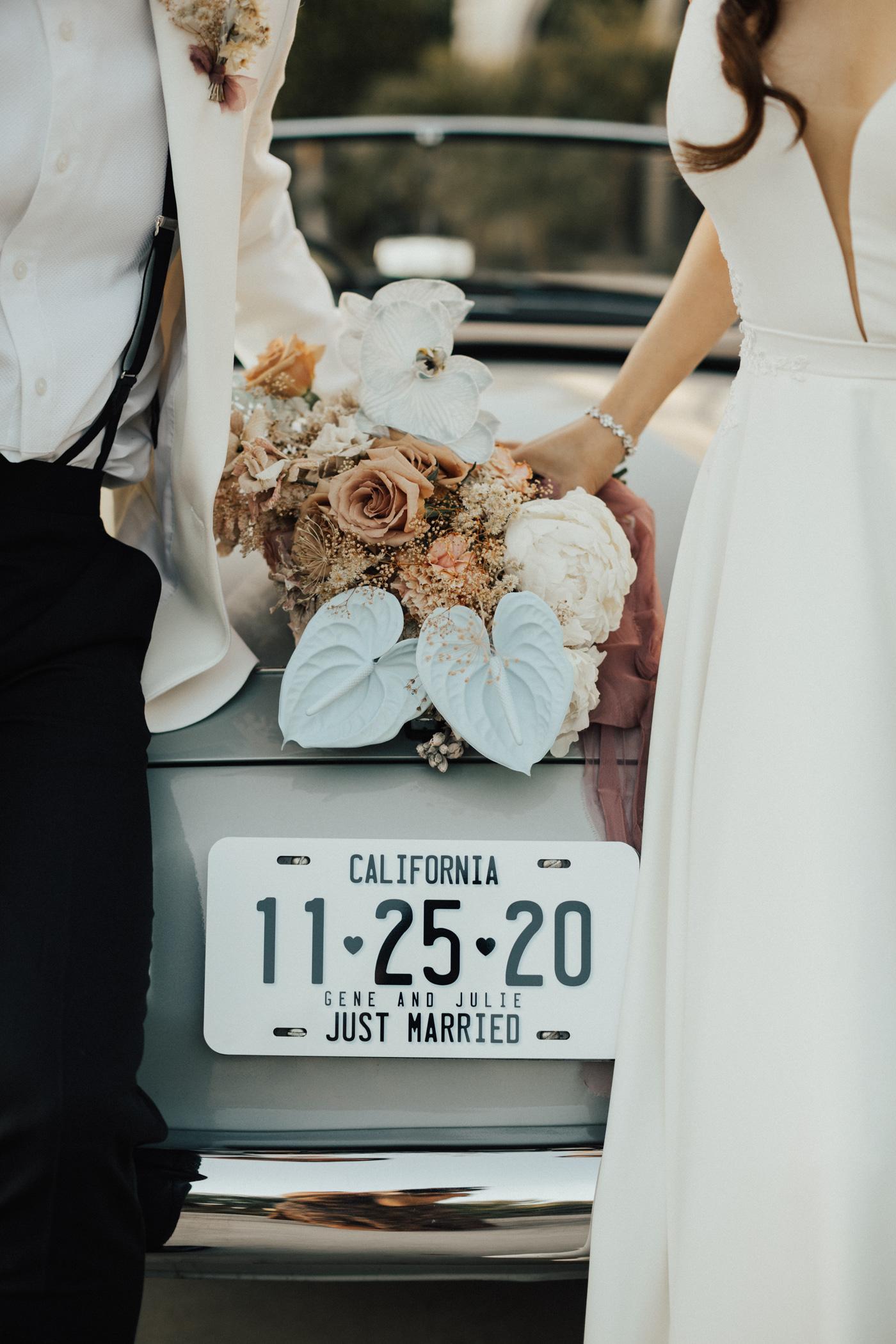 wedding date license plate