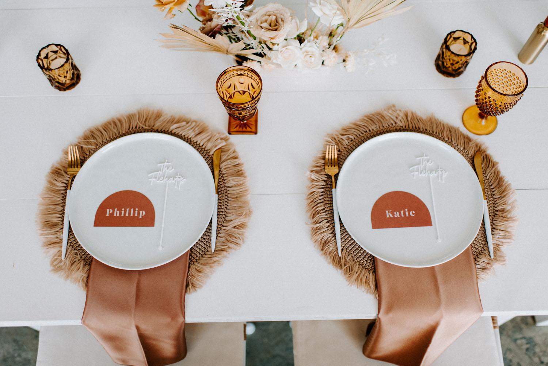 boho wedding charger