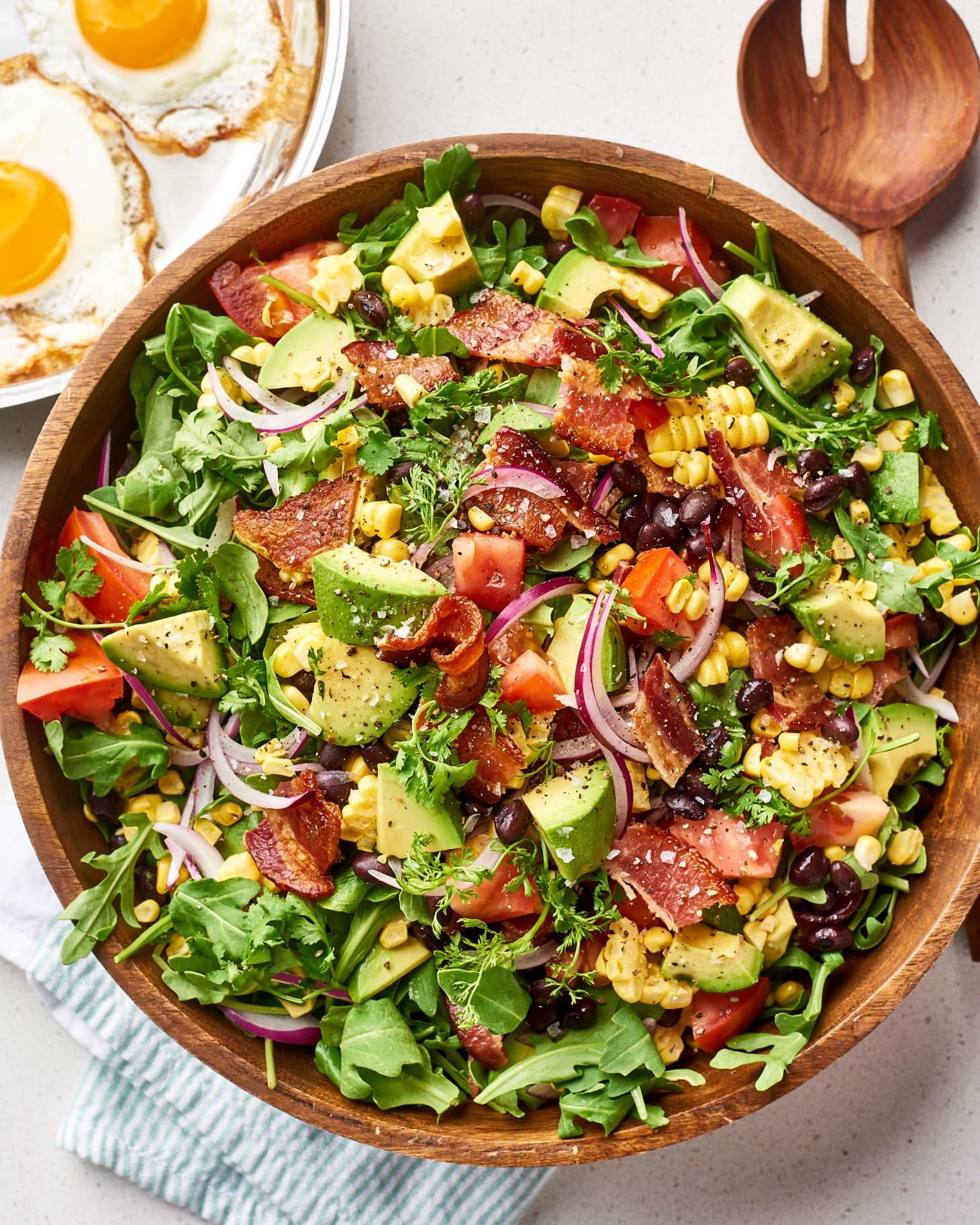 Bacon Avocado Salad Bowls