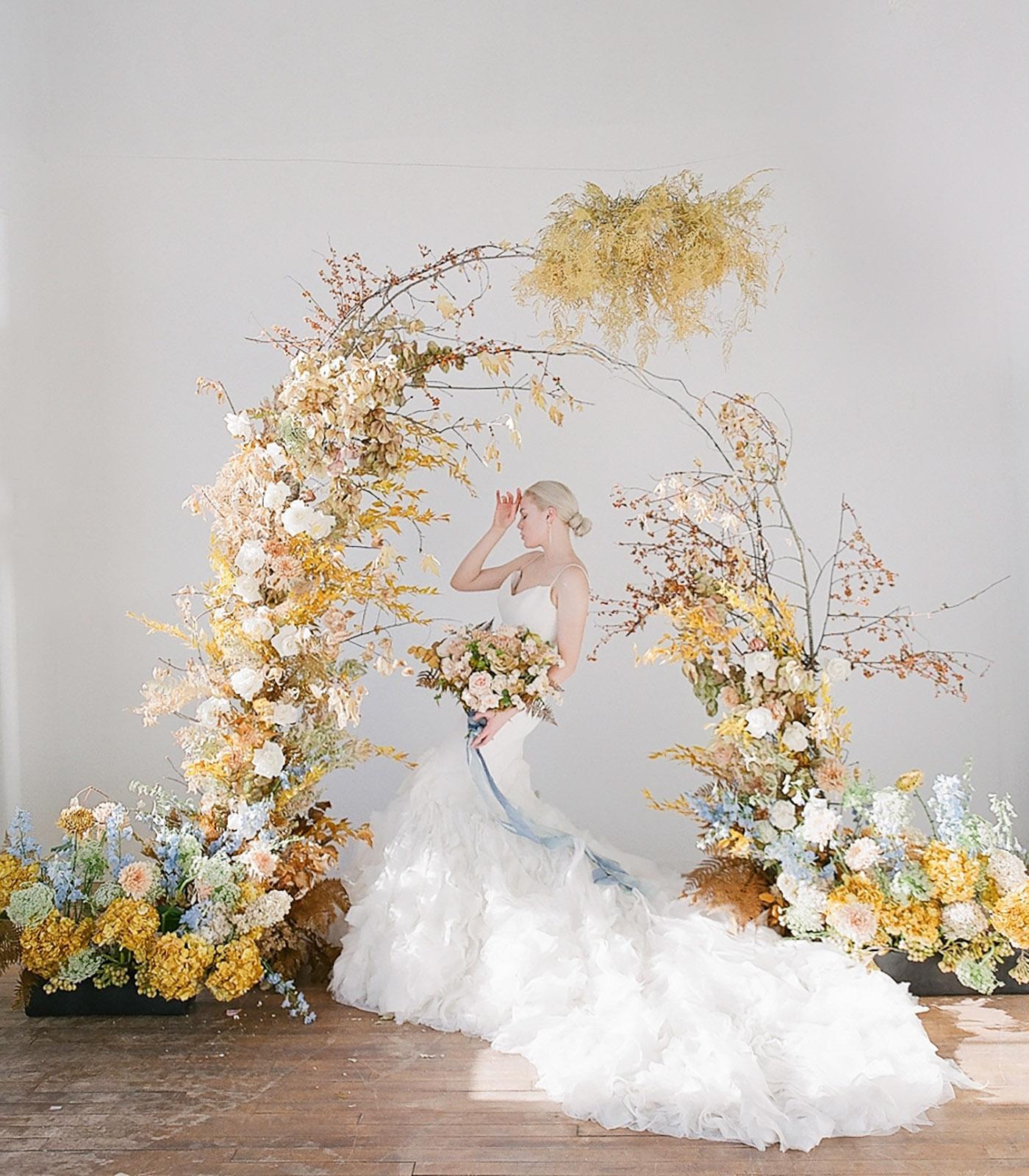 illuminating yellow wedding inspiration