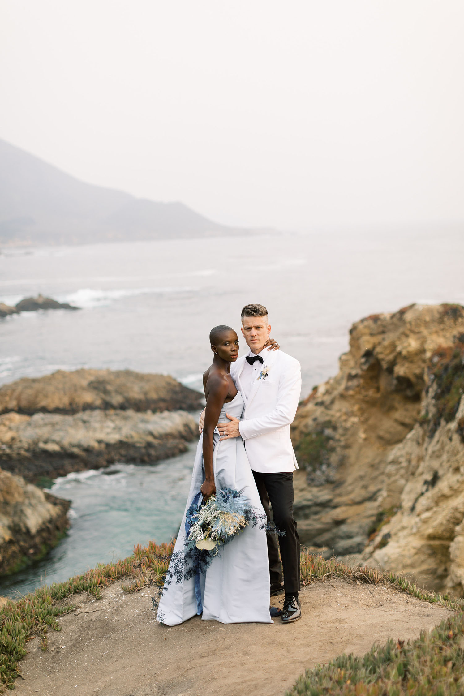 Blue Wedding Inspiration in Big Sur