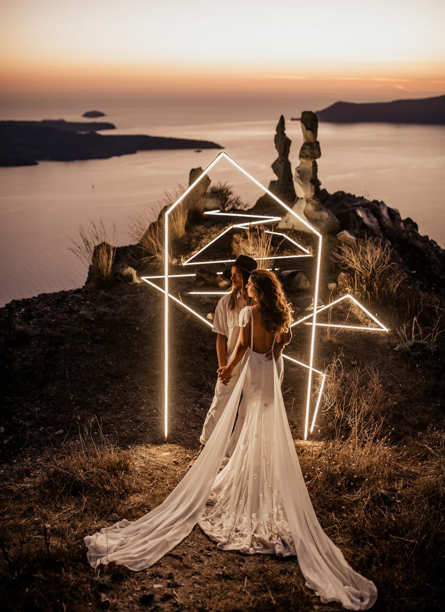 LED Lighting Installation Wedding