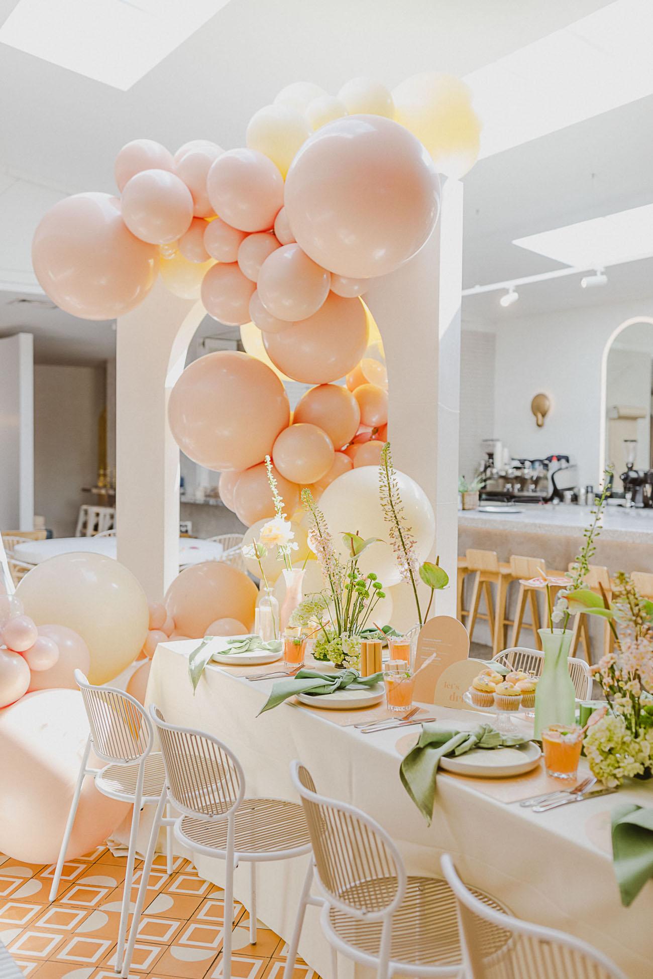 pastel spring bridal brunch