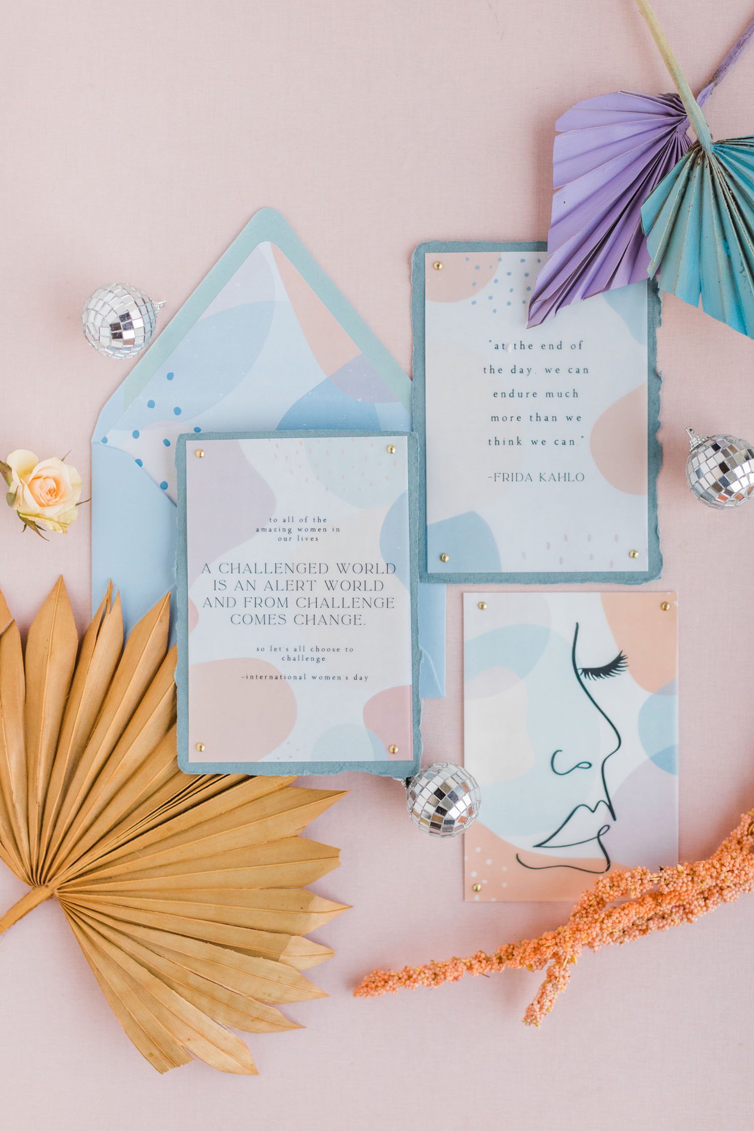 Pastel invitation