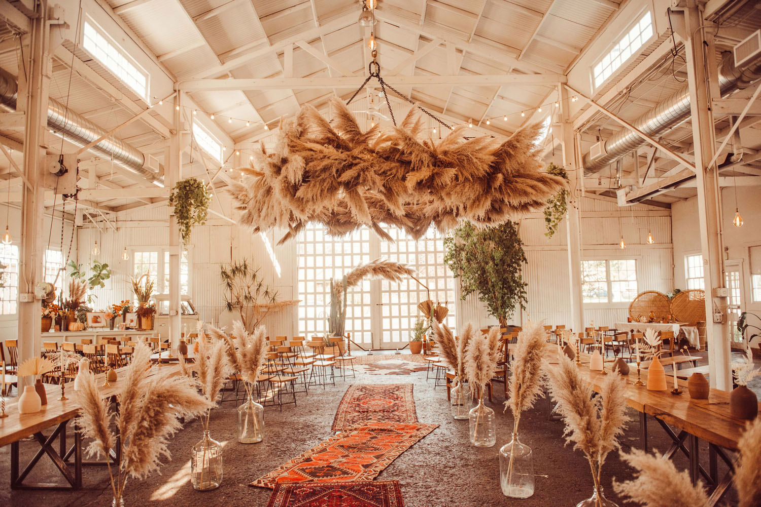 Pampas Grass Ceremony Chandelier