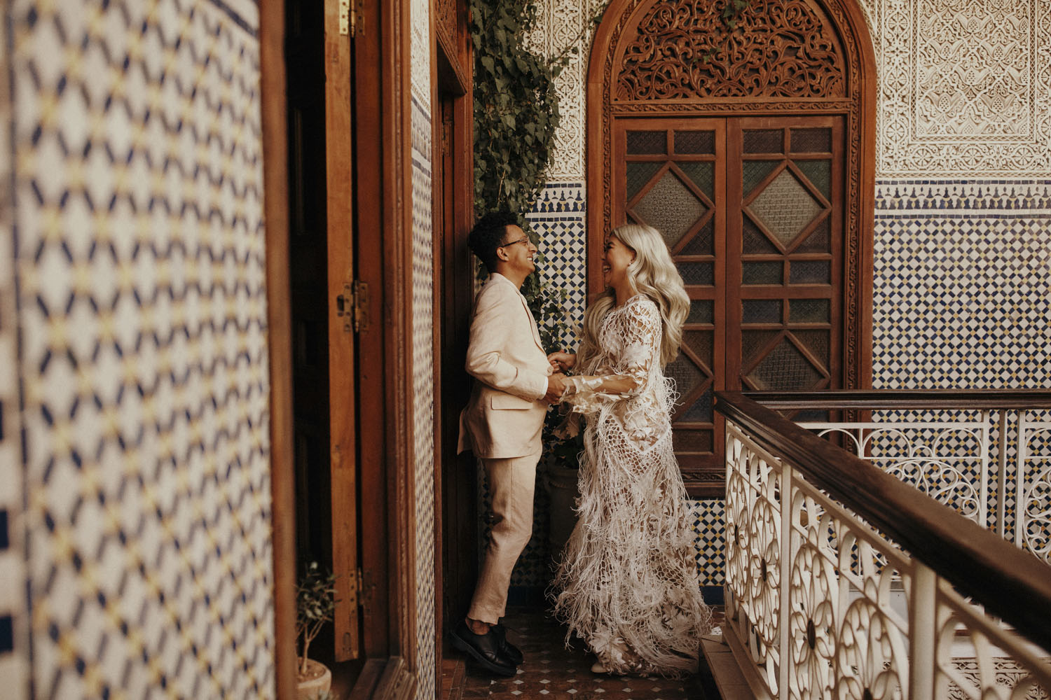 Intimate Moroccan wedding