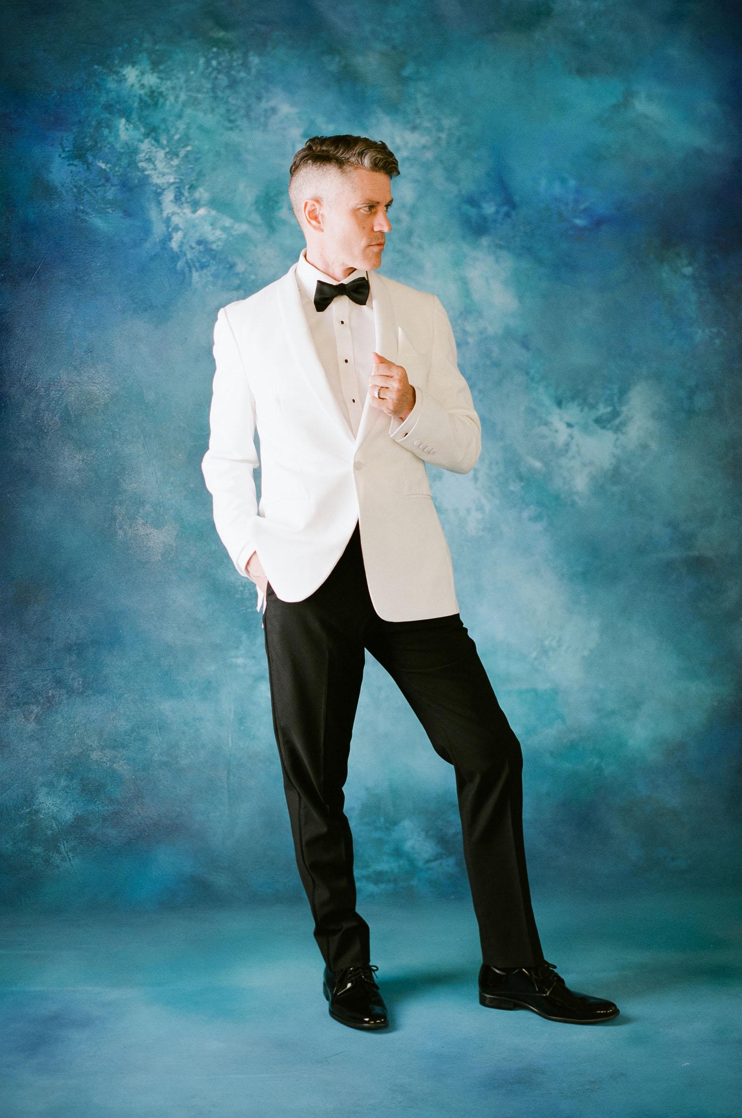 white grooms jacket