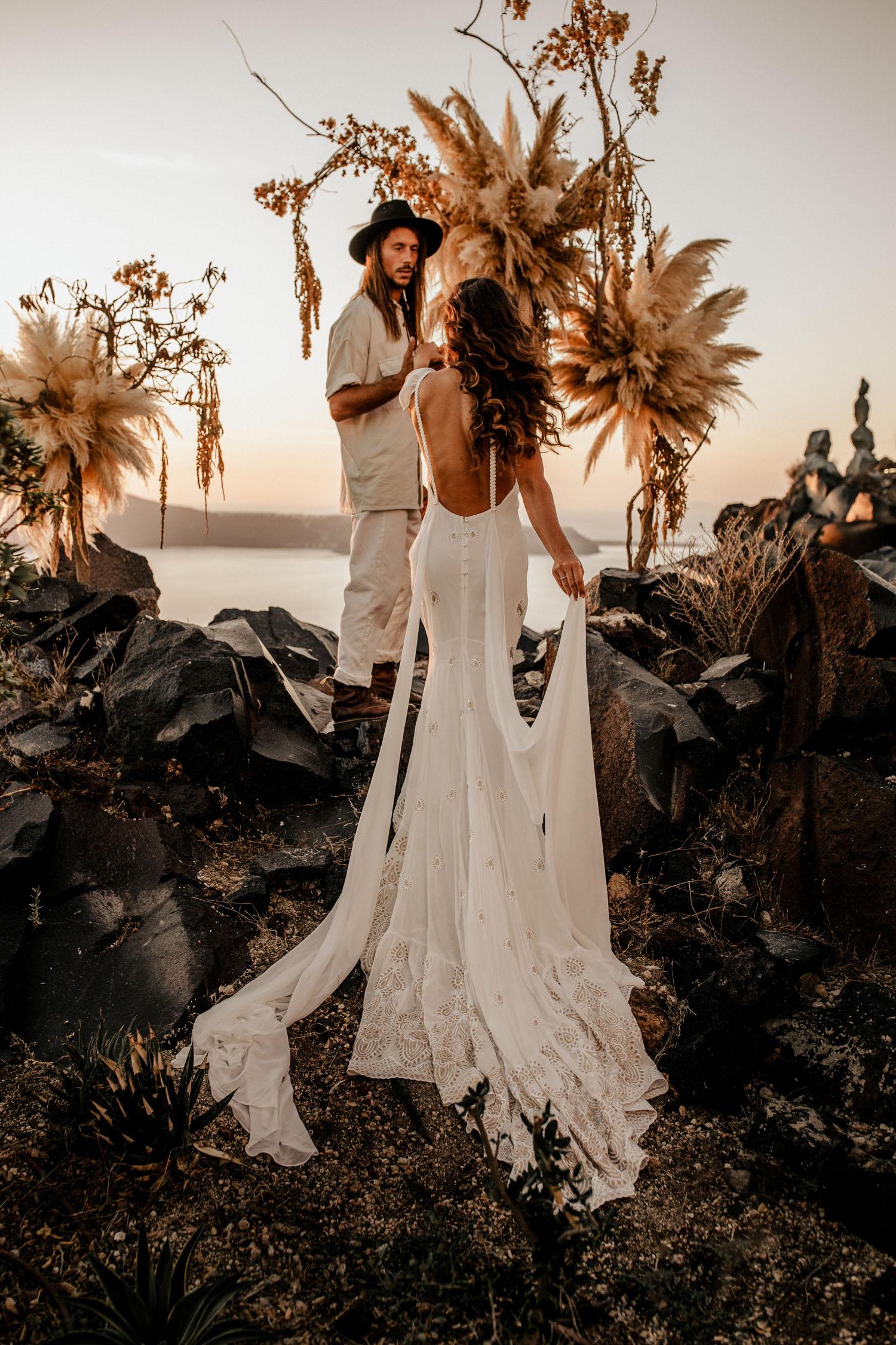 cliffside boho wedding