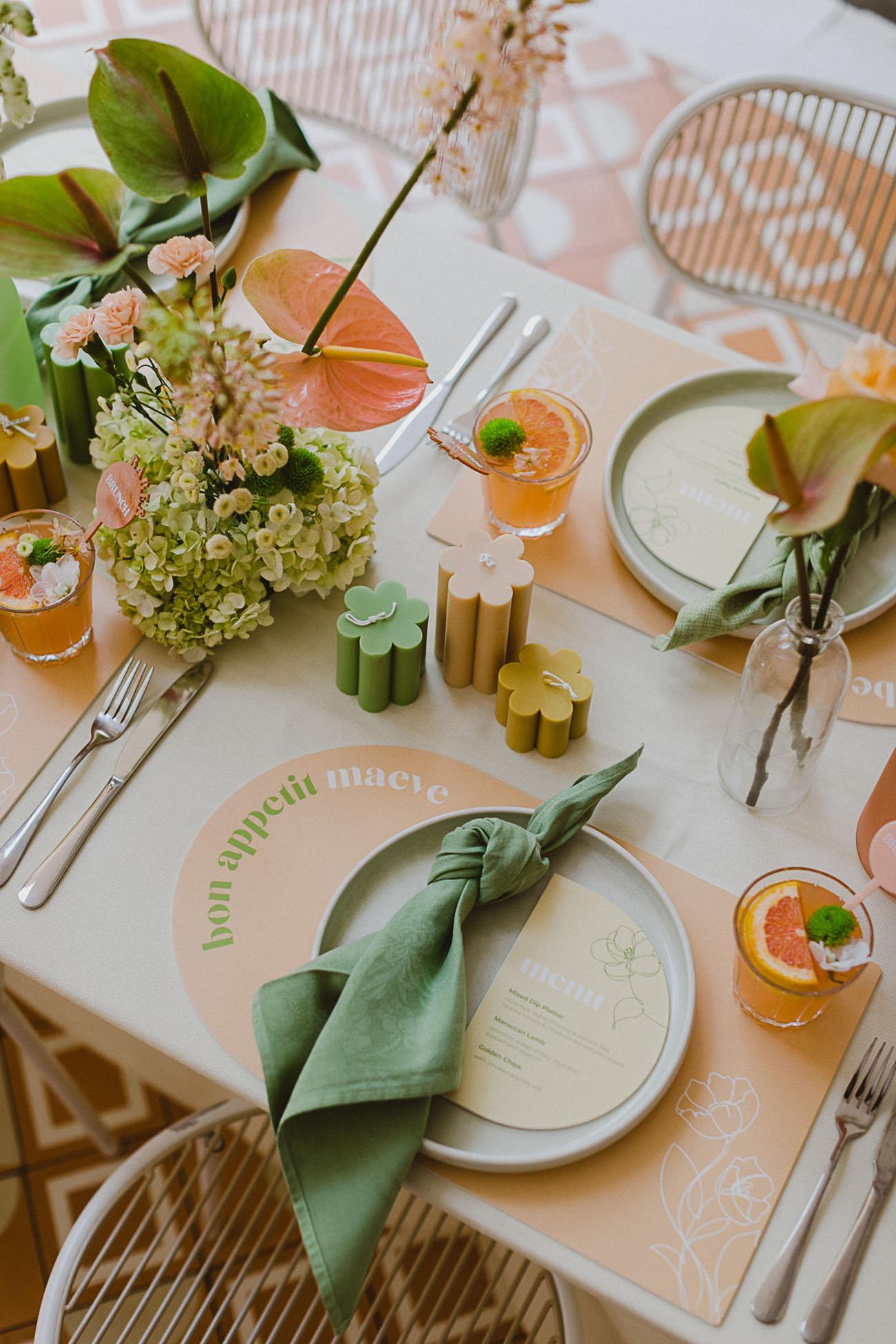 Spring pastel bridal brunch