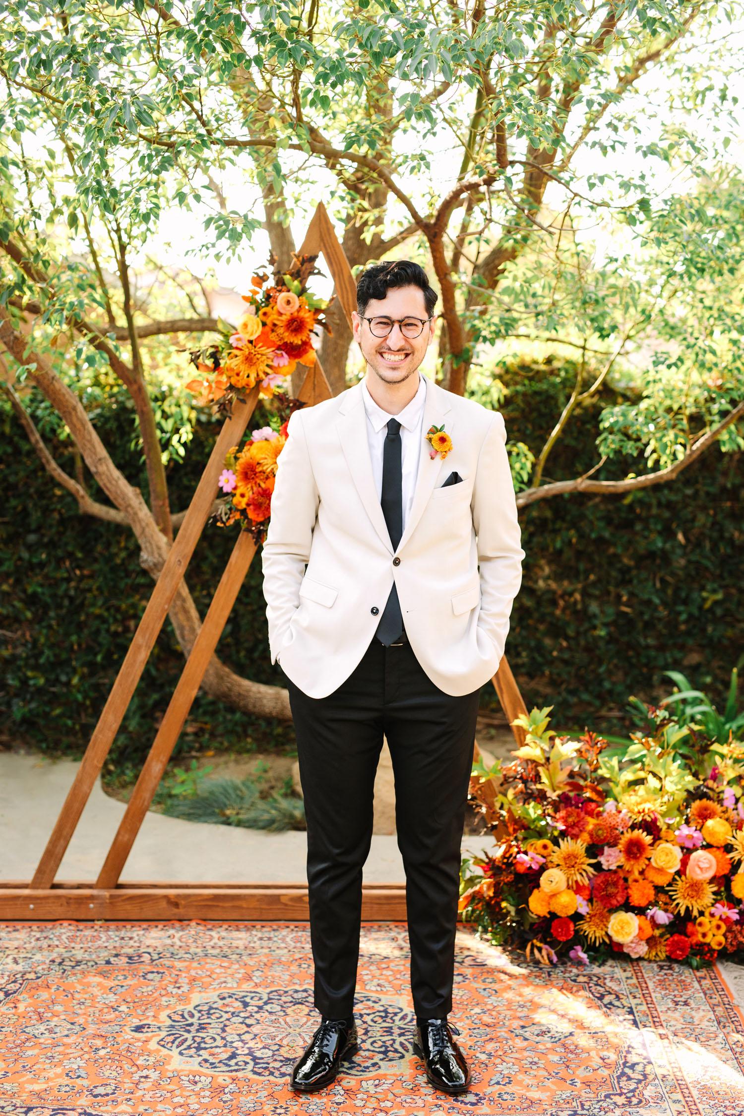 white jacket groom attire