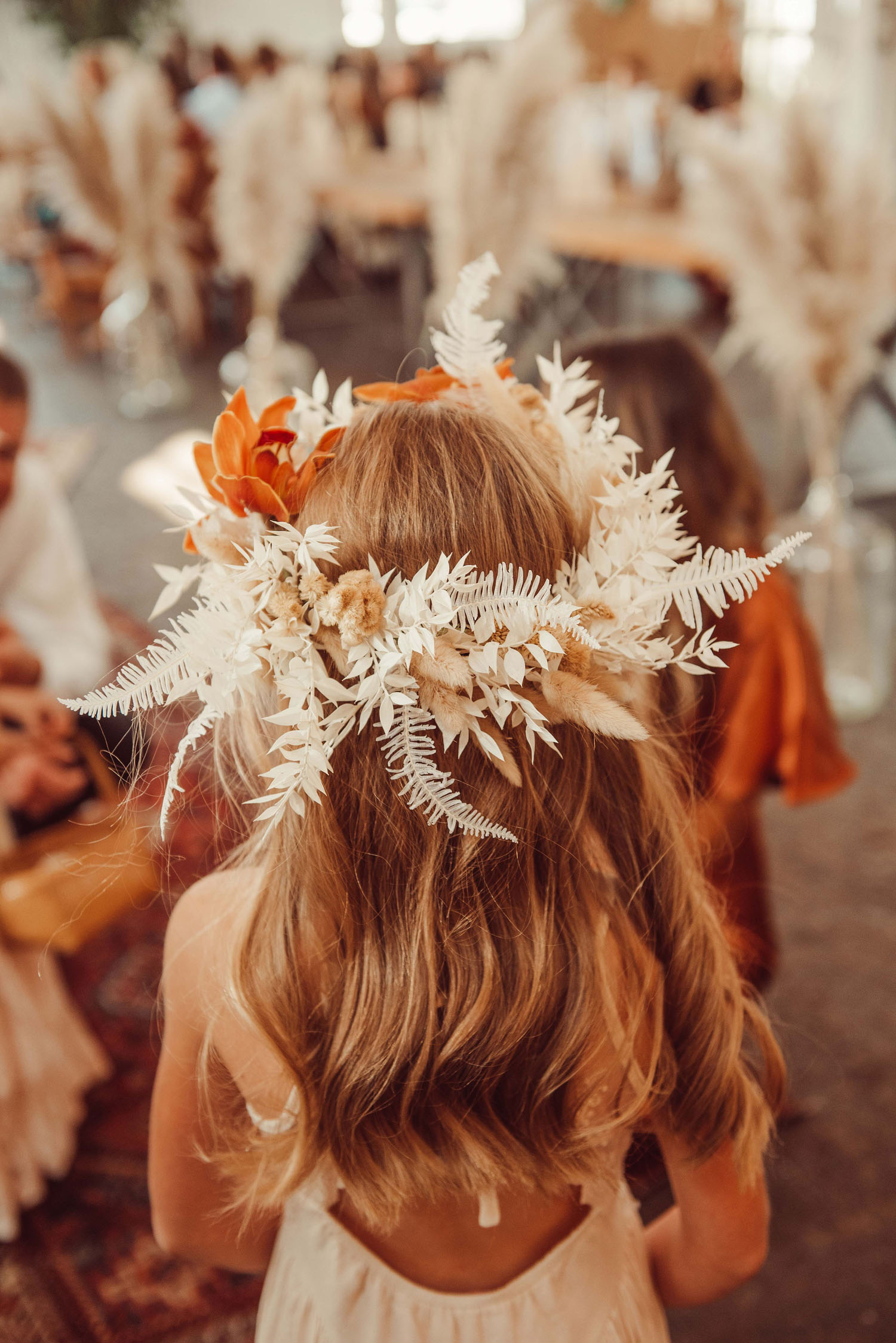 Boho Flower Girl Crown