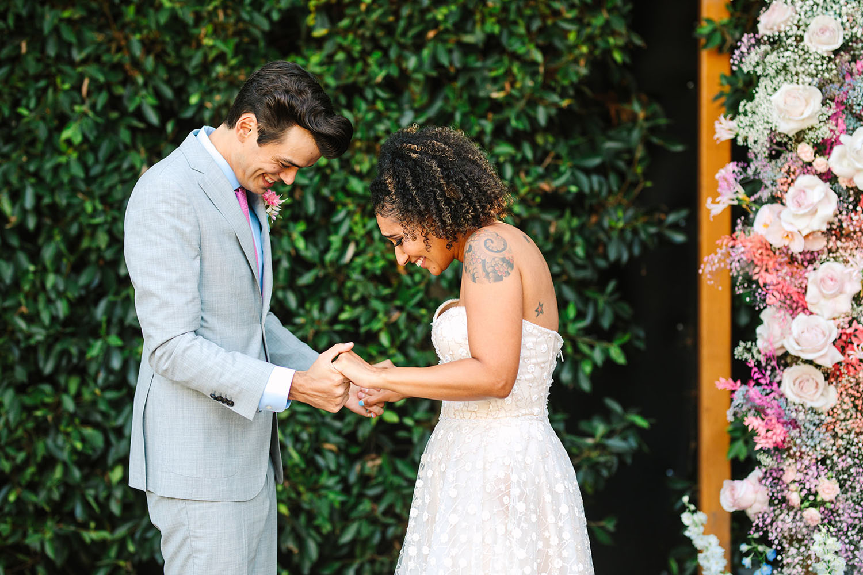 Bright Pastel Pop Up Wedding