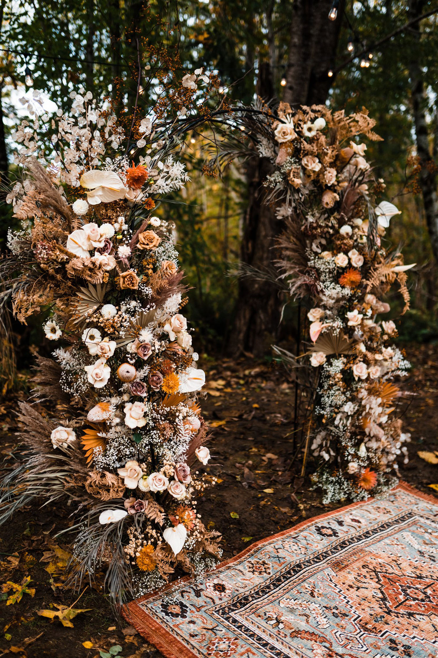 rustic floral arches