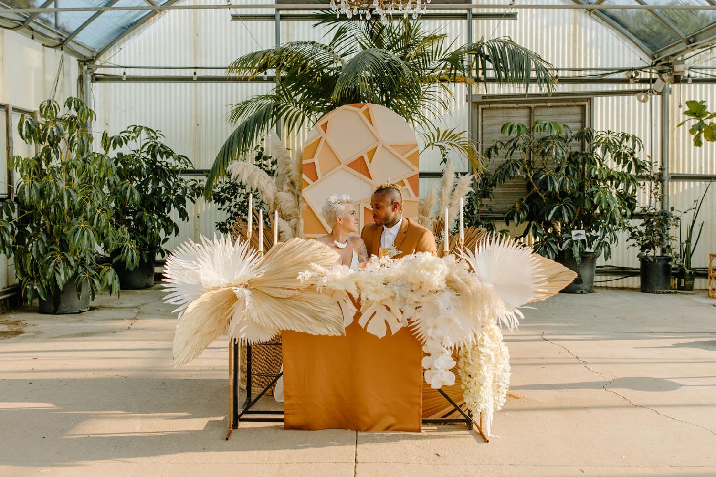 dried palm decor