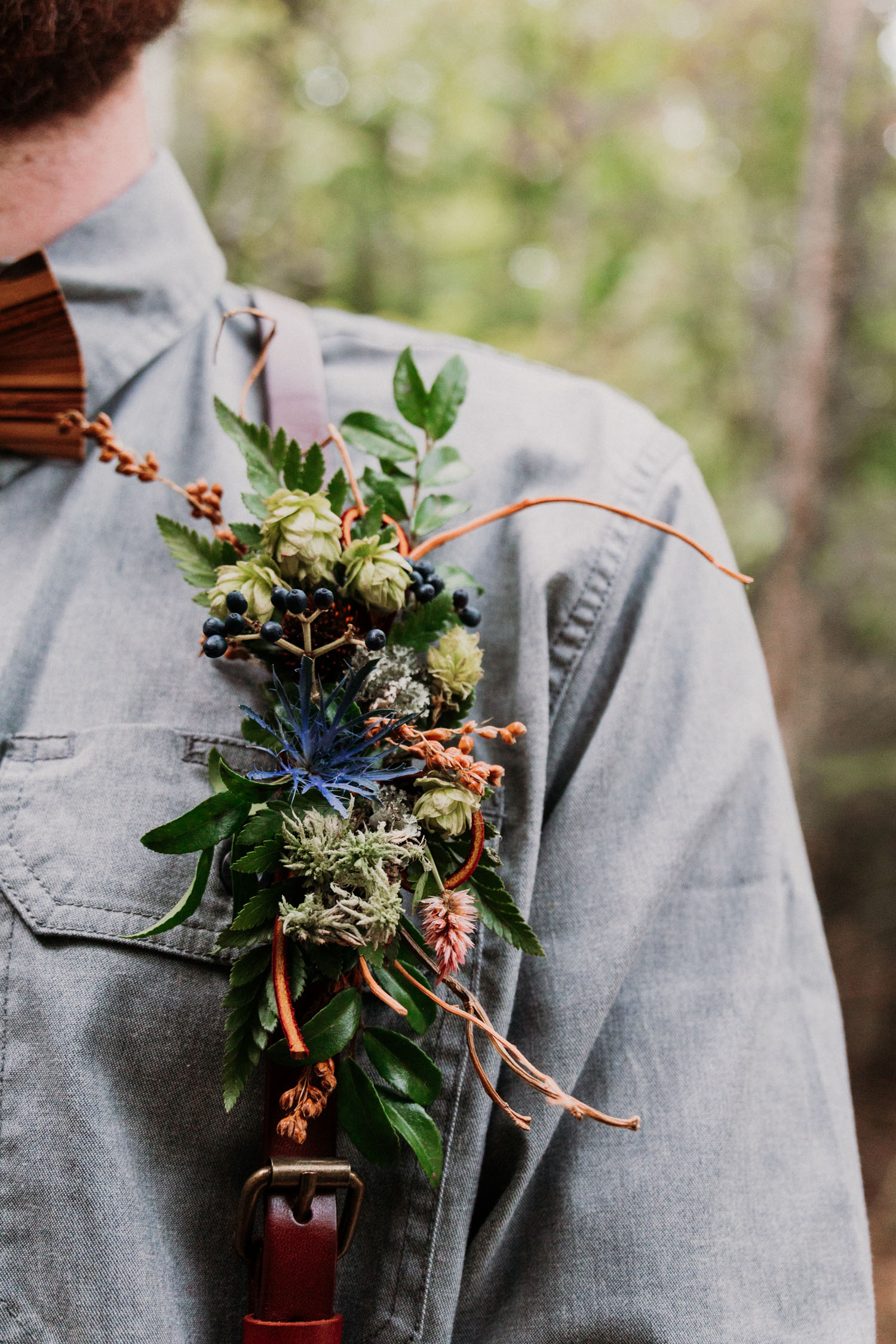 woodland boutonniere