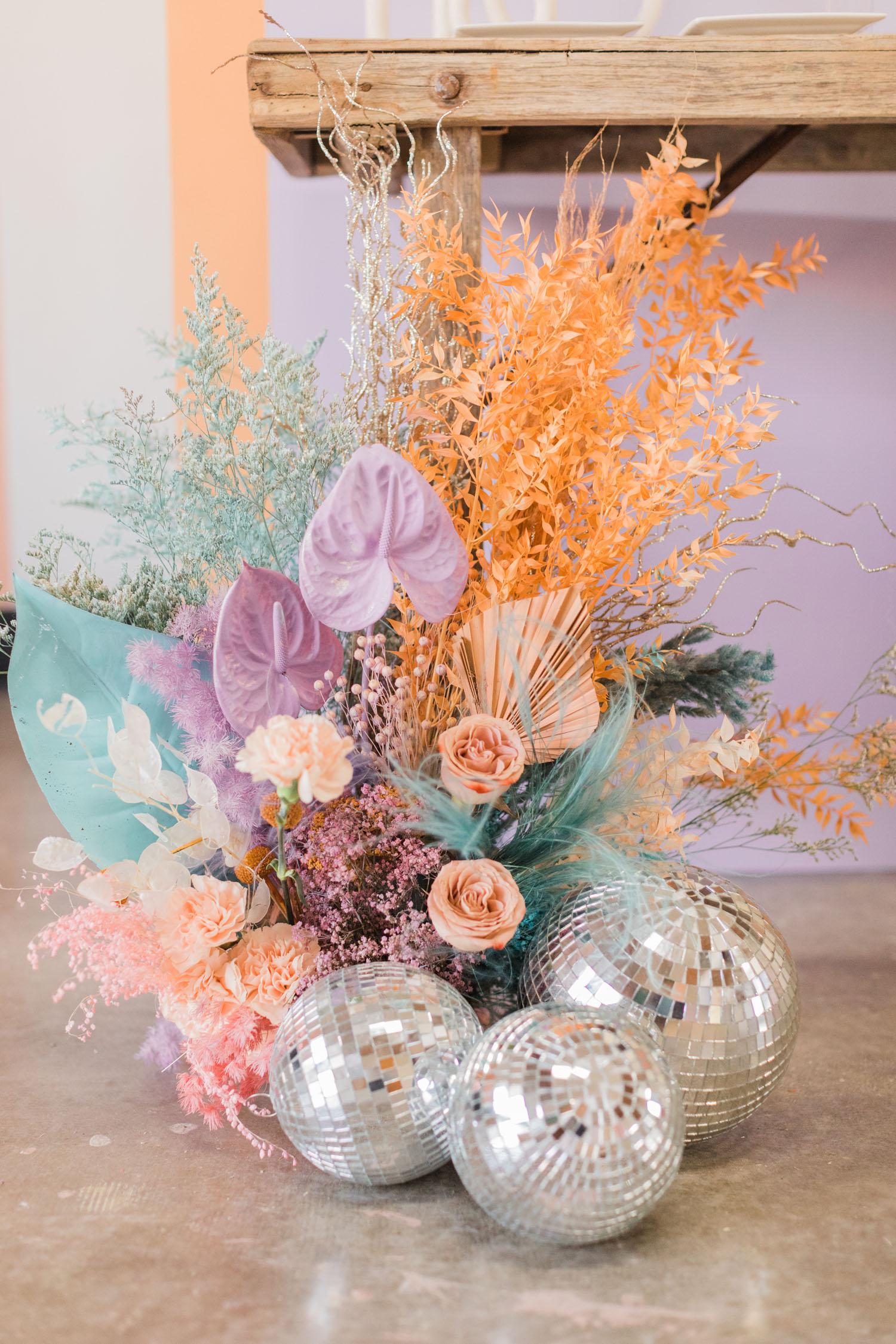 Disco ball flowers
