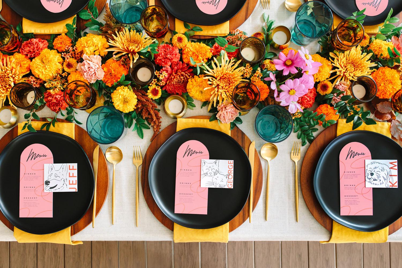 Colorful Backyard Micro Wedding