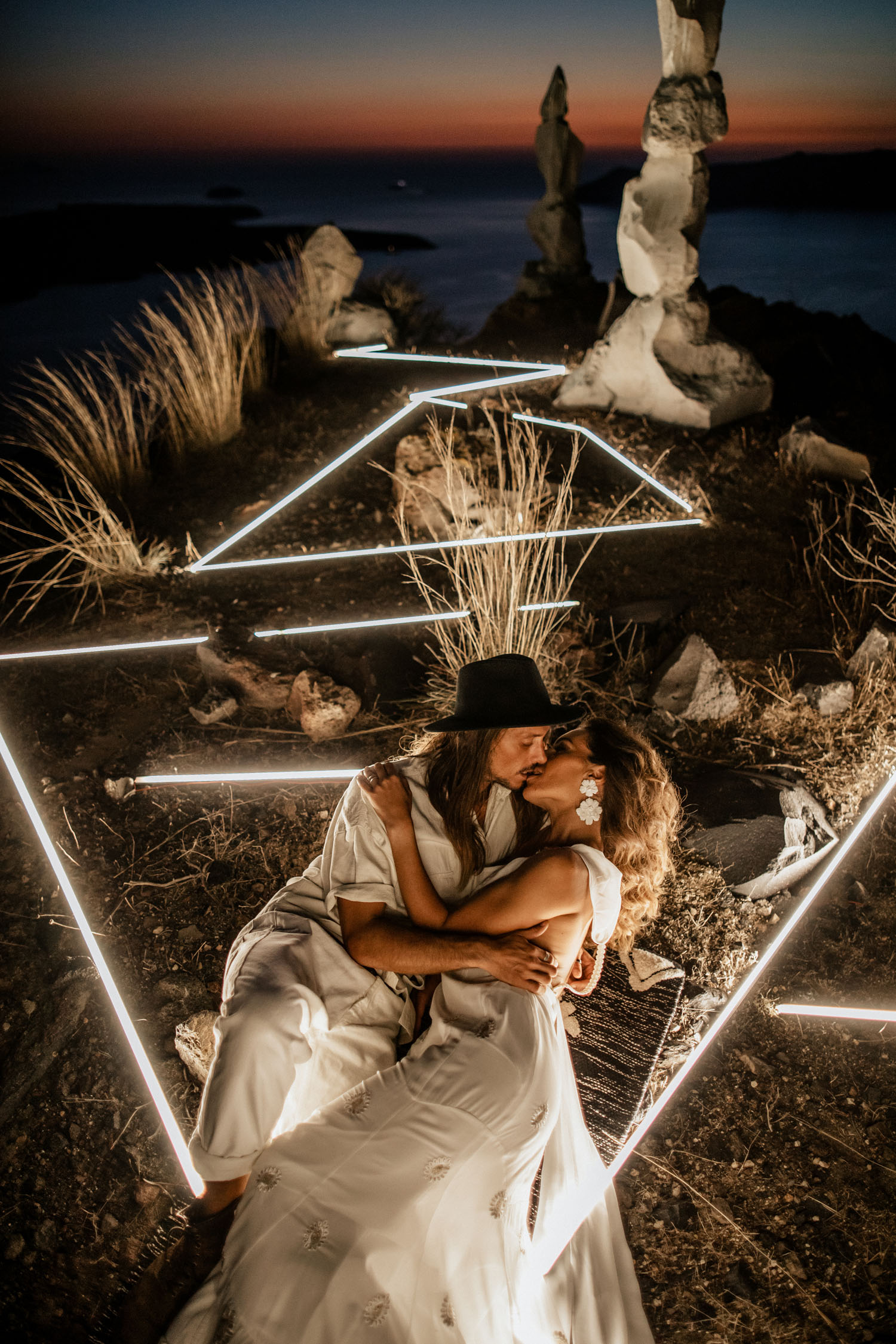 LED Light Wedding Installation