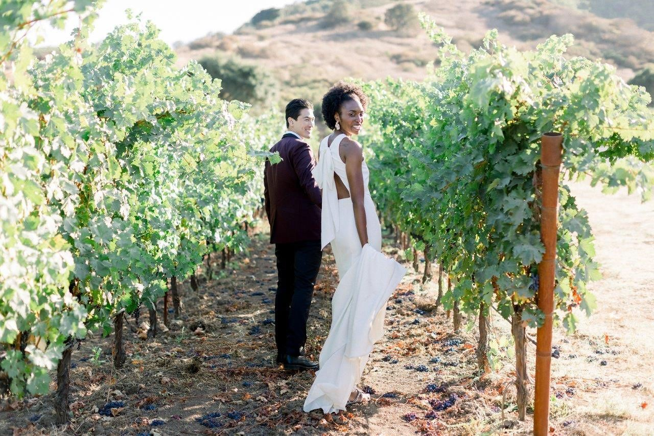 Chandon winery wedding in napa