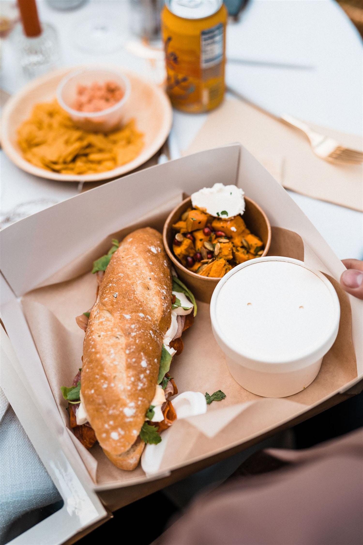 wedding reception boxed individual meals