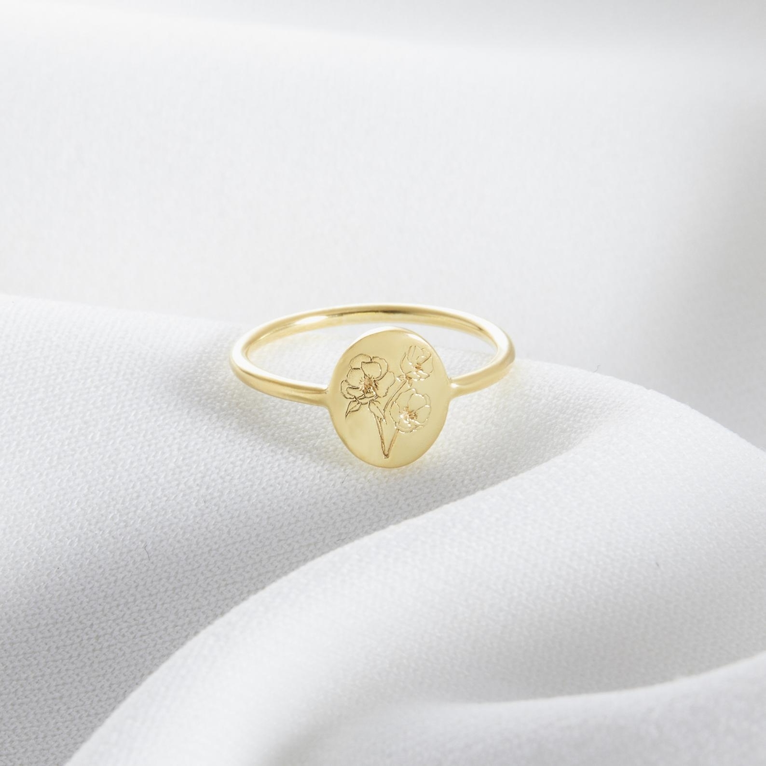 birth flower ring - Etsy finds