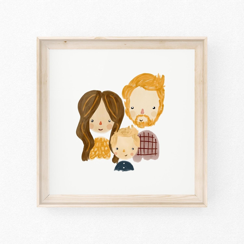 family portrait art on etsy