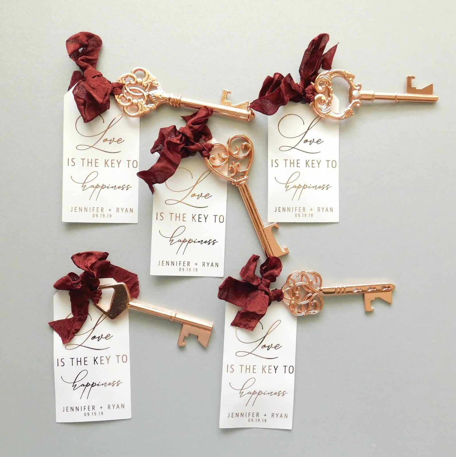 Key bottle opener wedding favors