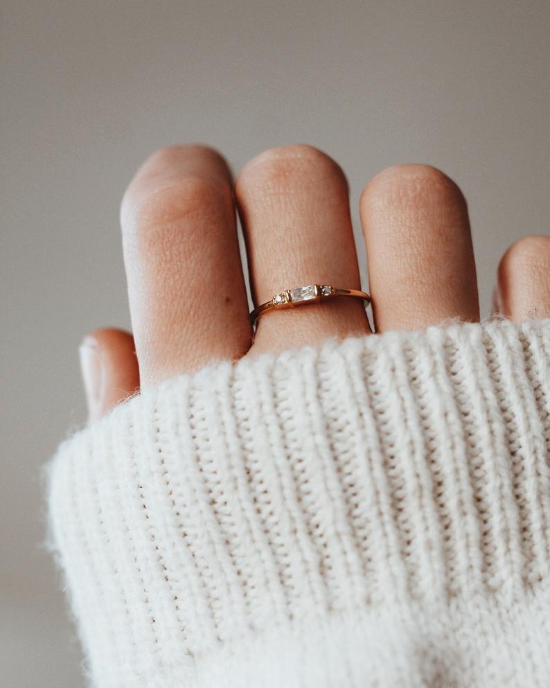 Etsy stacking rings
