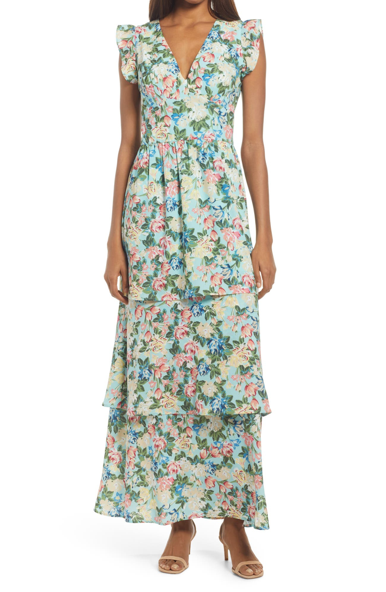 floral dress for a spring wedding