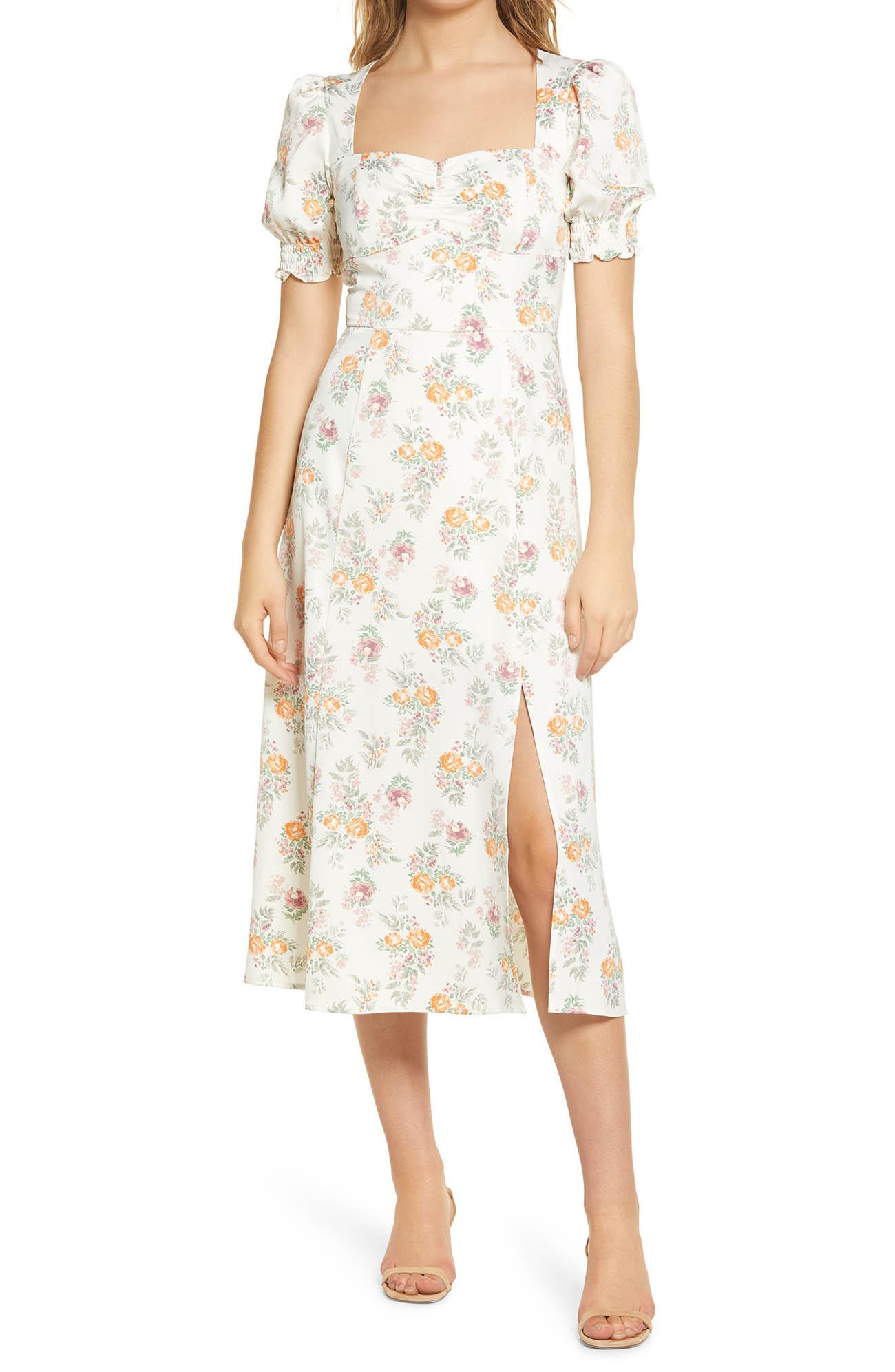 Beatrix Bustier Midi Dress for a spring wedding