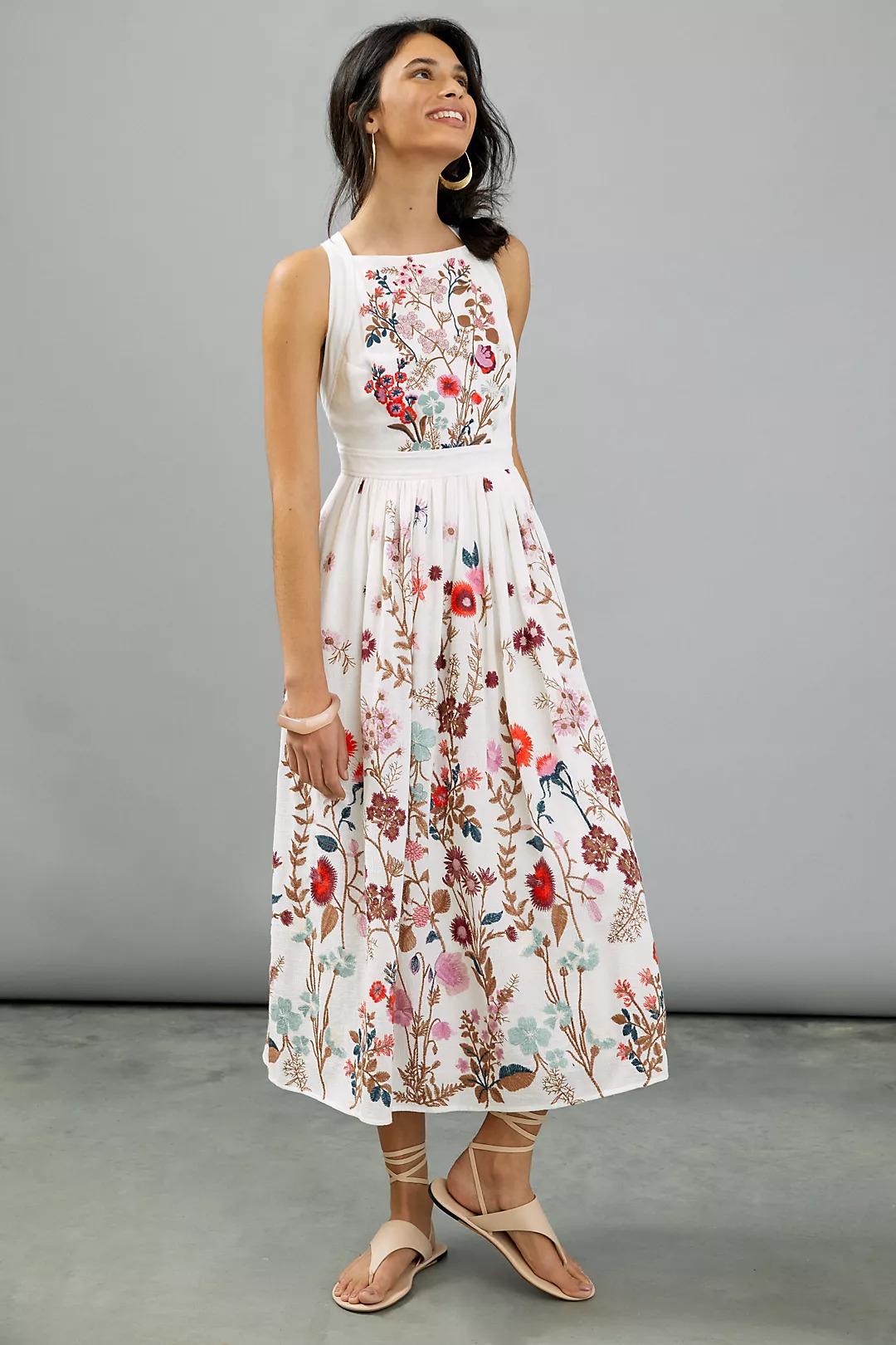 Floral anthropology dress