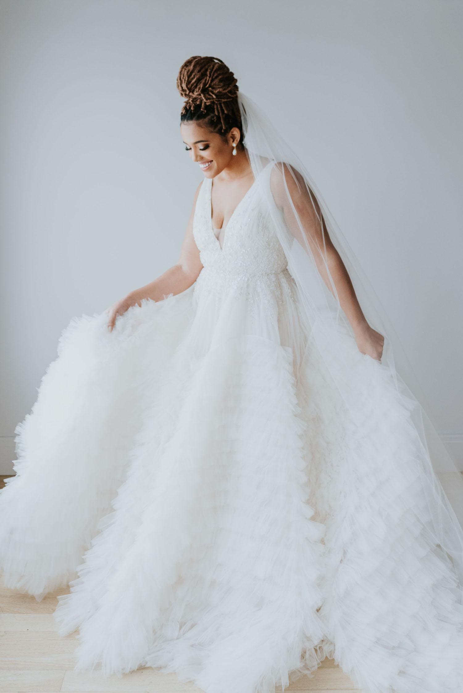 Enaura Bridal Ruffle Dress