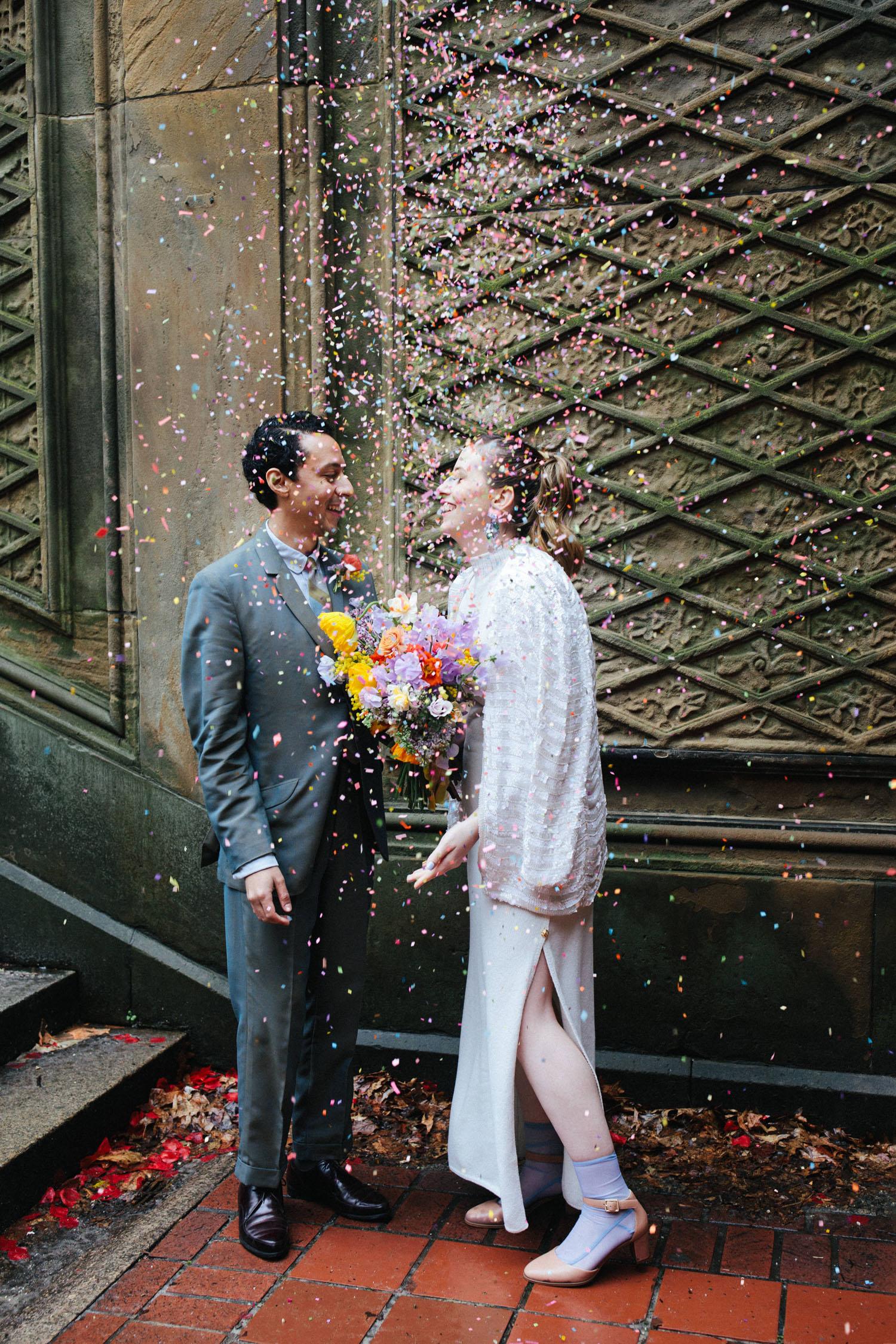Confetti Wedding Portrait