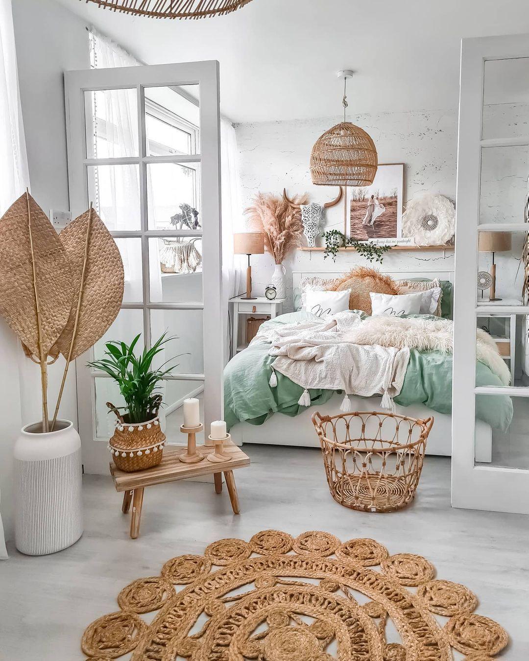 boho spring bedroom